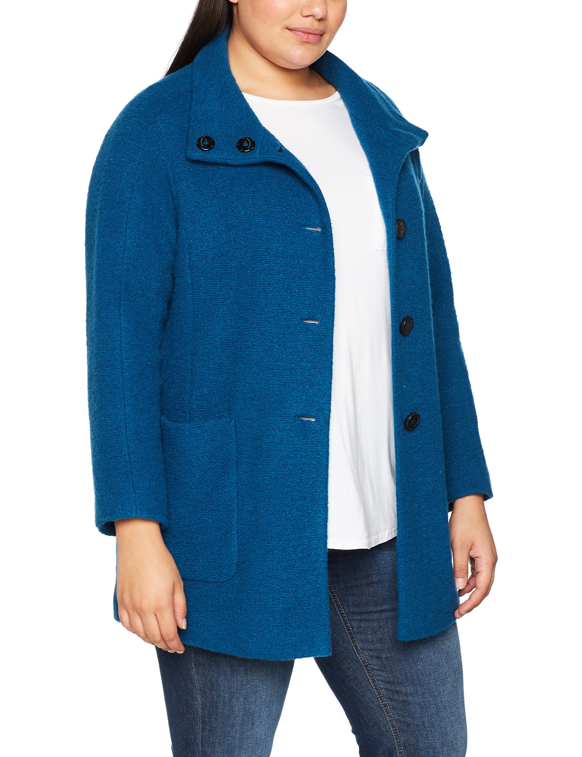 Femme BlousonTürkisvibrant Out And 807741 Samoon Mois Teal About 0OX8kwNnP
