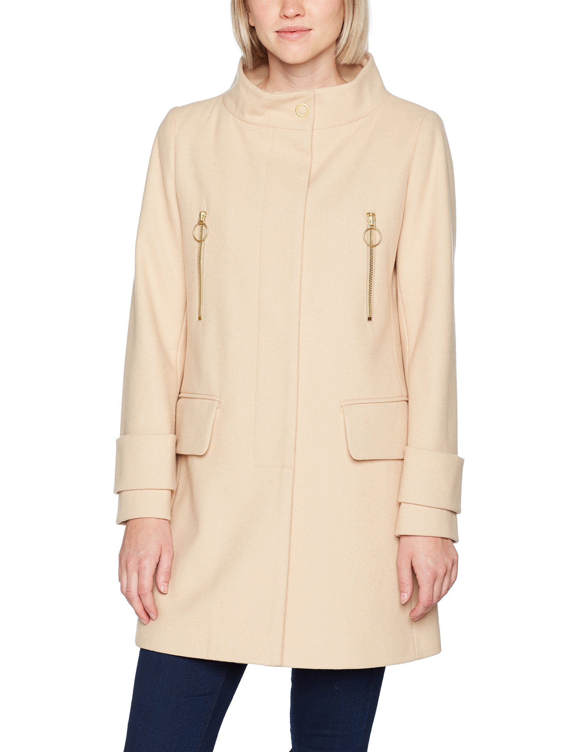 Sisley With Coat Pockets Fabricant46Femme BlouseBeigenude 24nMediumtaille Front hsrCtQd