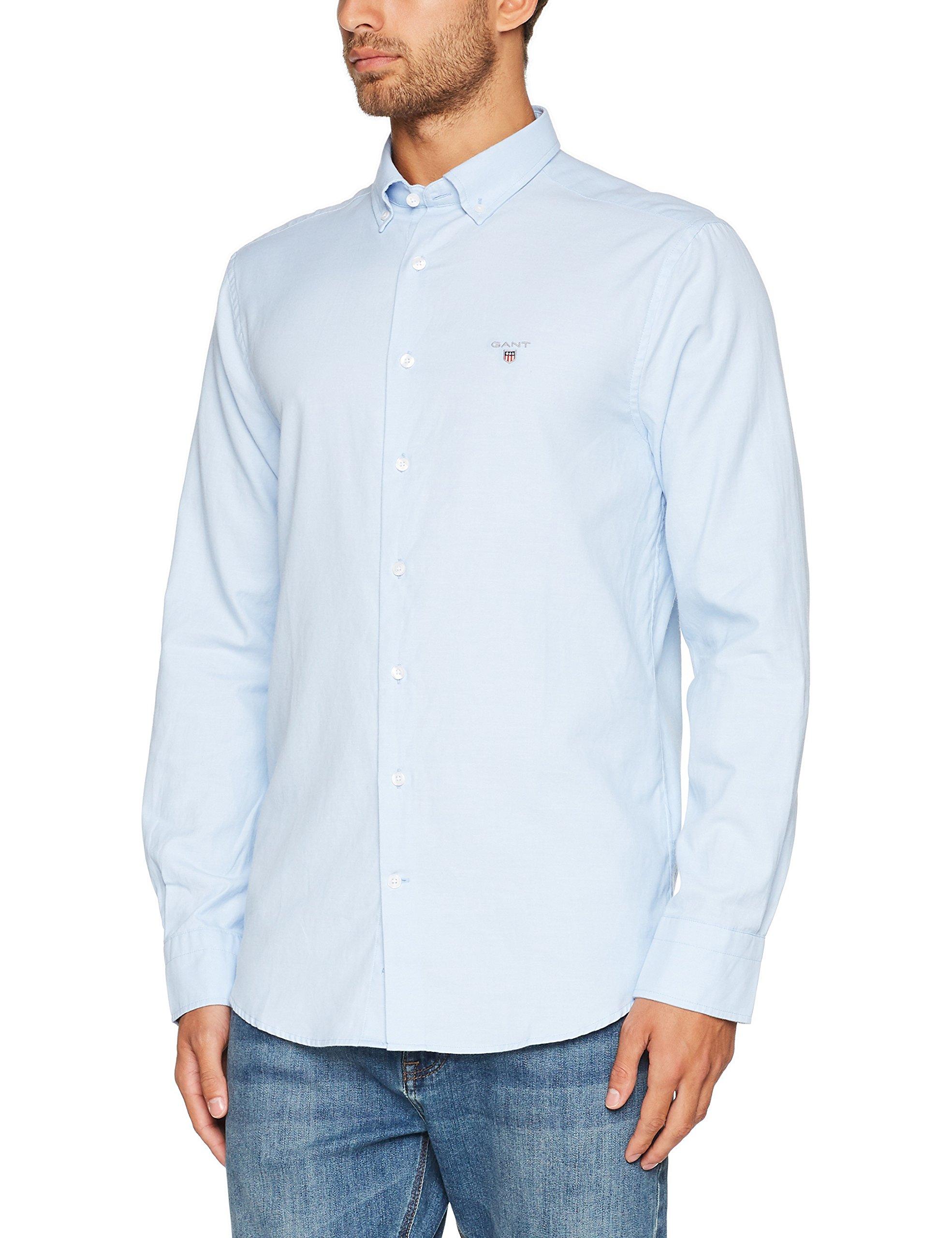 Gant CasualBleucapri large Wool Prep Chemise Tech BlueXxx Homme Shirt clFKJ1T