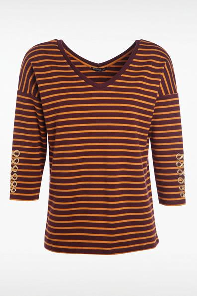 shirt Rayé Bonobo T L Femme Rouge CotonTaille dCBQroexW