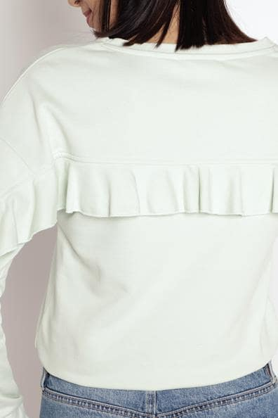 Taille PolyesterFemme Cache Sweat Le Volants Dans Dos Vert L thCrQds