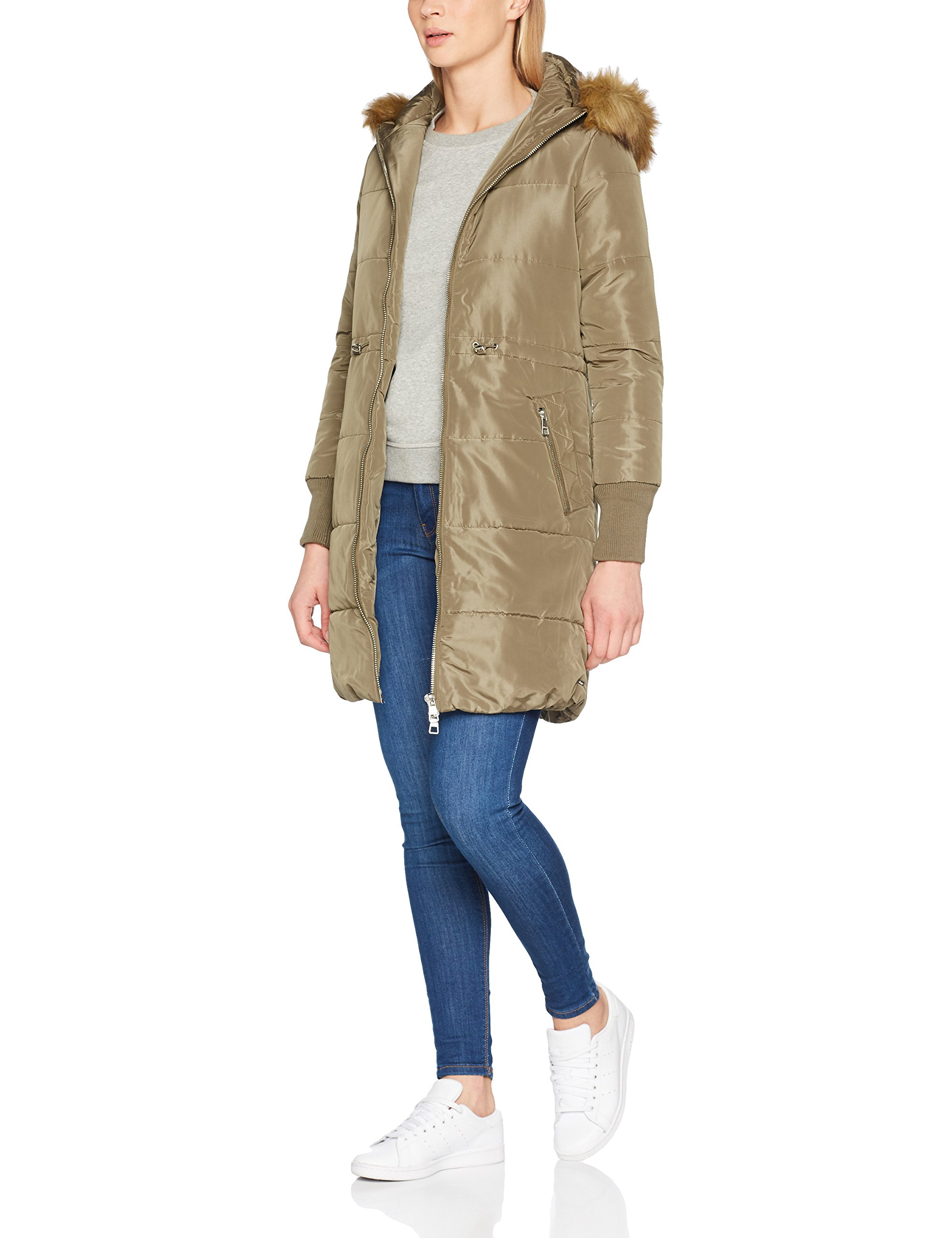 With 732238taille Denim ManteauVertlight Padded Military Coat Tom Tailor FabricantMediumFemme Green Hood XOZuTkPi