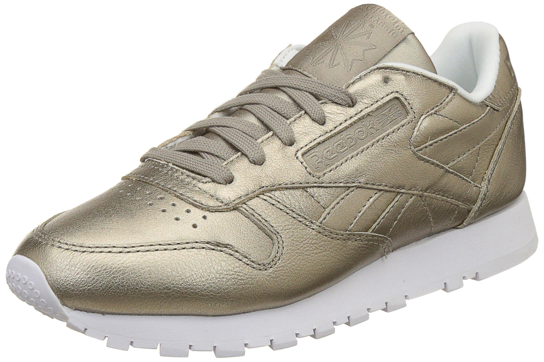 LBasses Eu4 FemmeOrpearl Leather white37 Reebok Uk grey Classic Met Gold lJKFc1