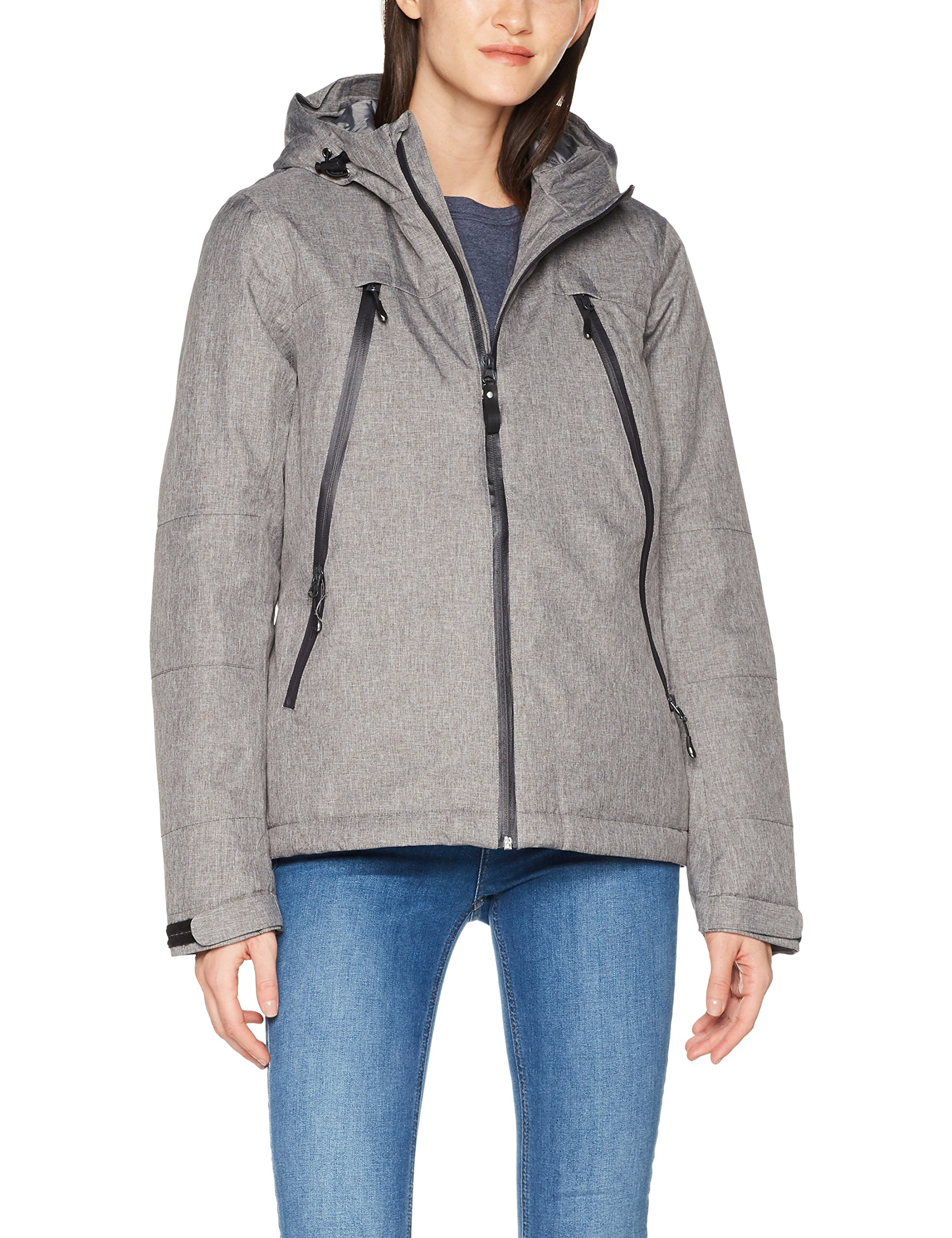 BlousonGrisgrey Melange Harvest James 13540taille Jacket Fabricant largeFemme Elizabeth AL3cjq4S5R