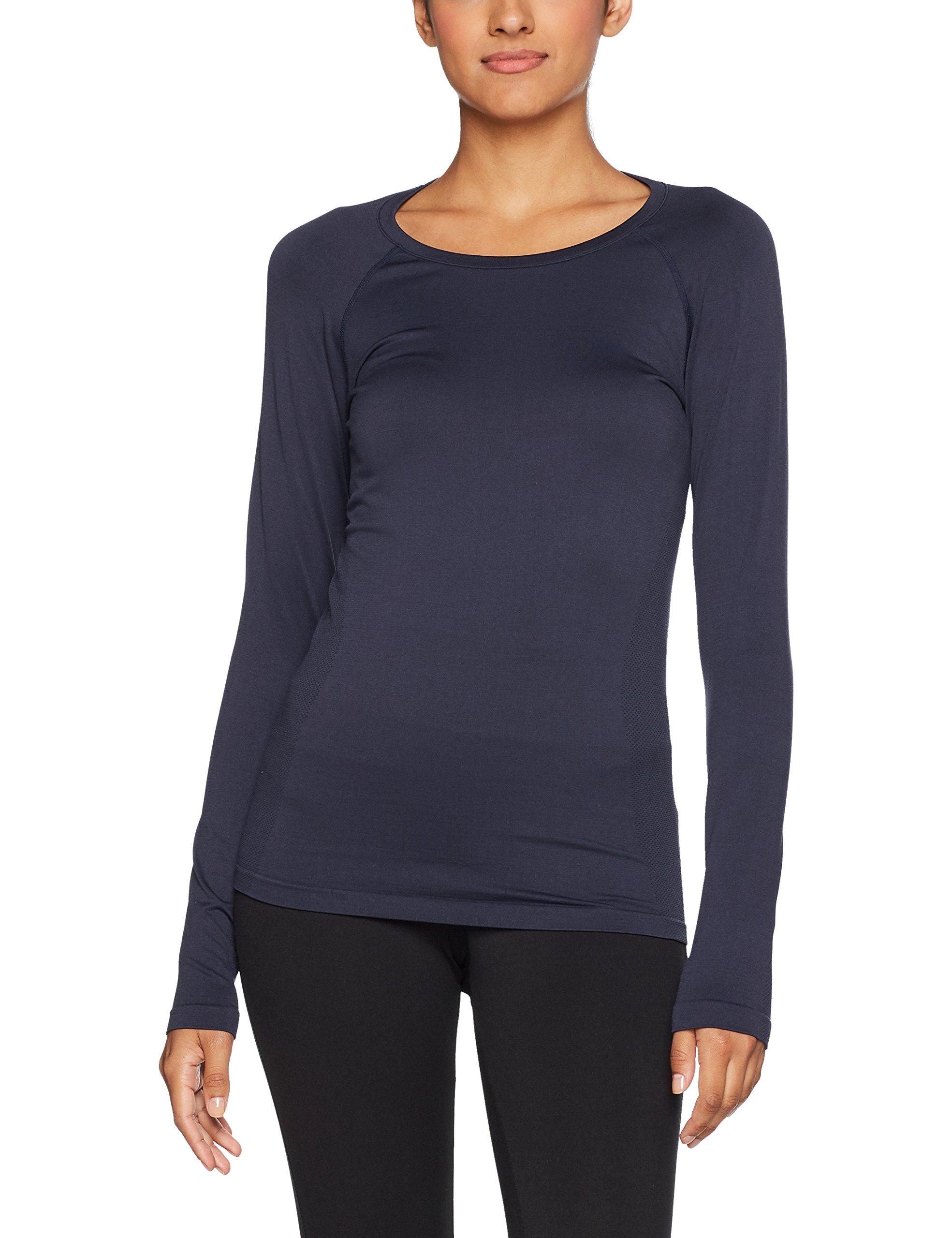 Langarm Sk8y6 SweatBleudark Skiny Shirt Saphire 739042 Femme WDH2E9I