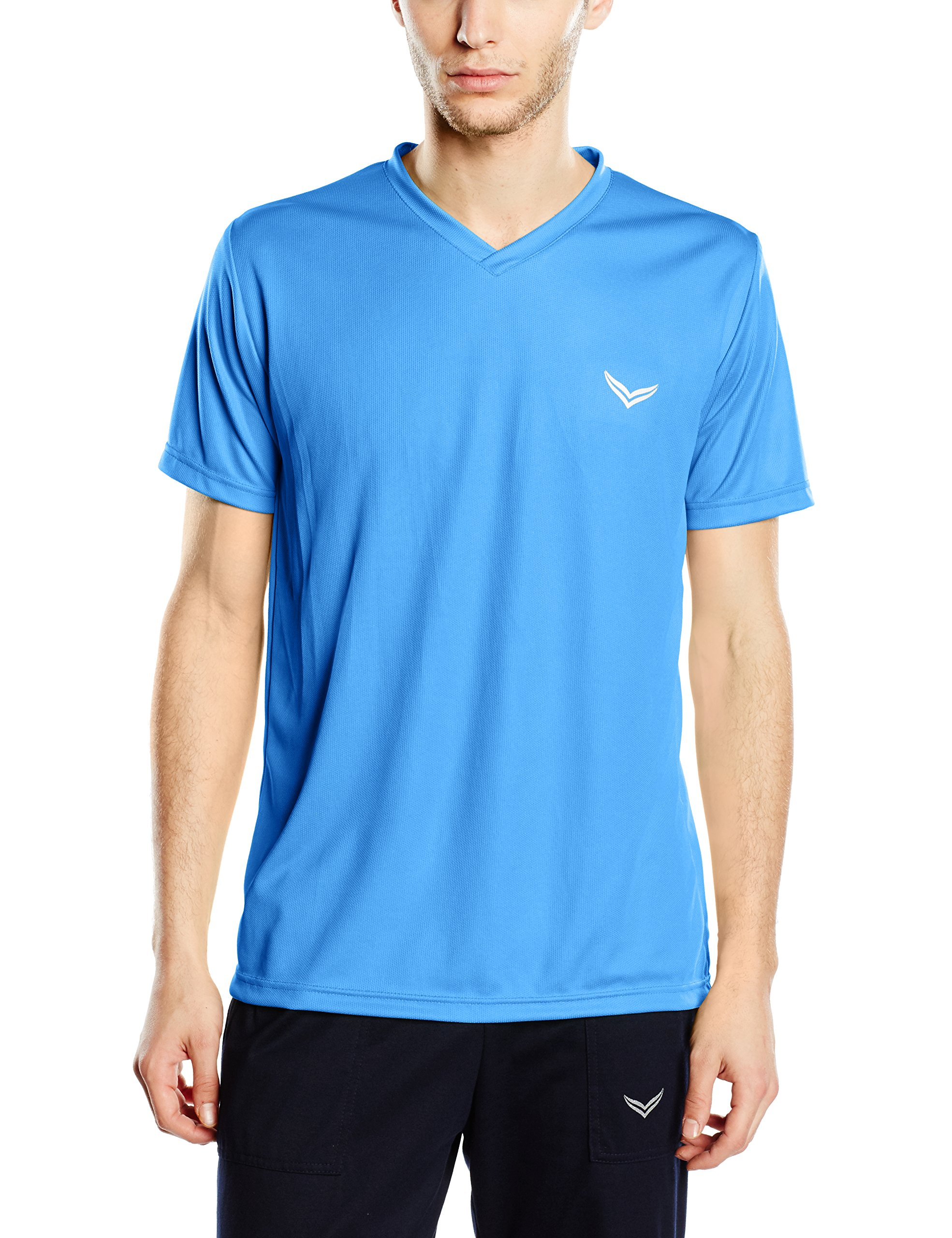 Trigema Herren 048X shirt V Blue CoolmaxBleuBlauelectric Homme large UMpGLSqVz