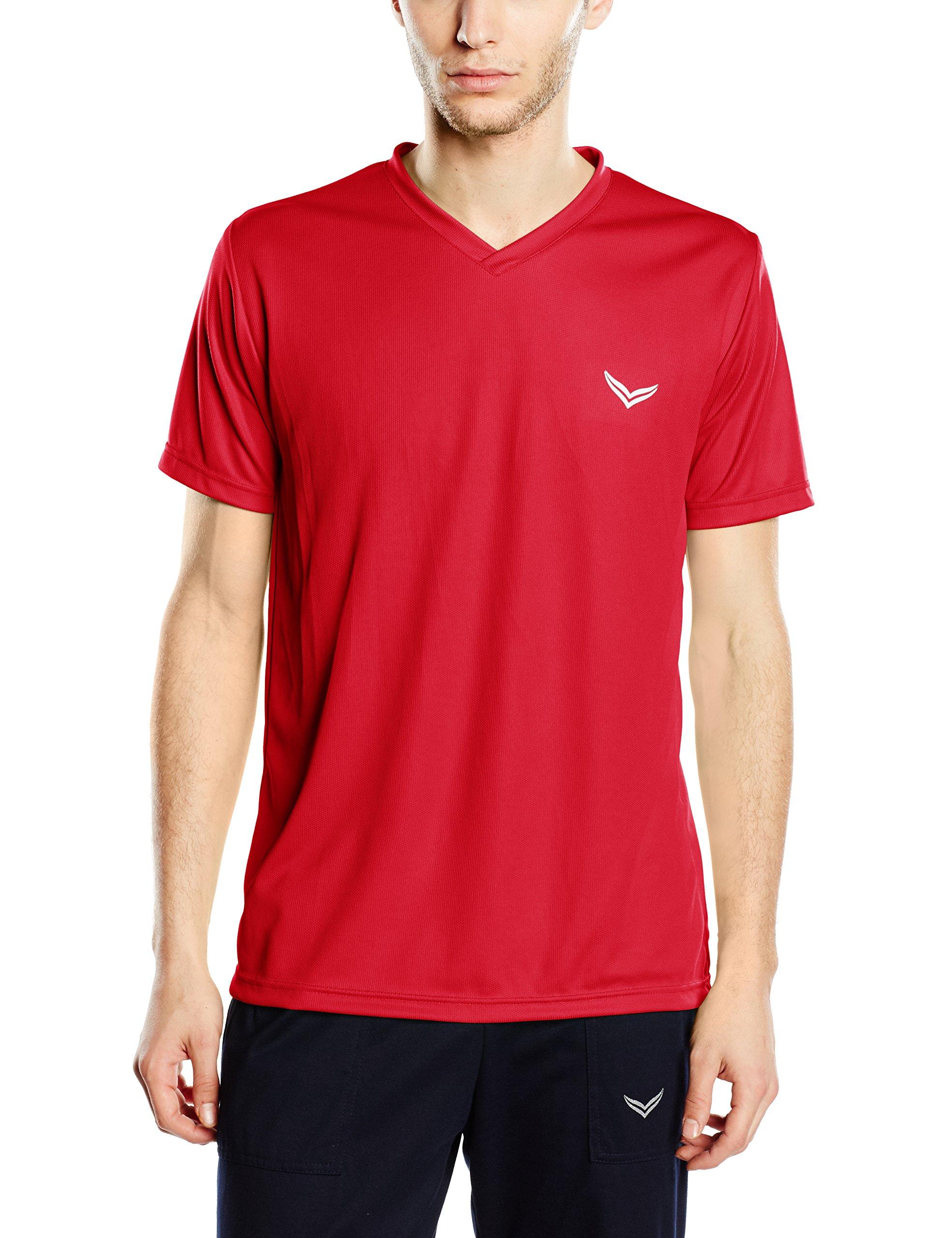 rotkirsch Trigema Herren CoolmaxRouge shirt Homme V large 036X ZkOXPui
