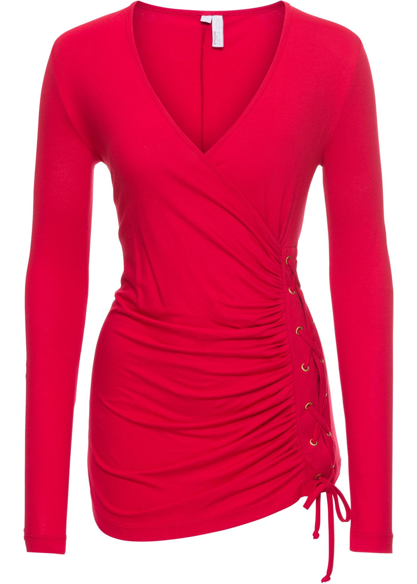 Manches Pour À Laçage Boutique Longues Femme Rouge Bodyflirt BonprixTop 8kXPn0wON