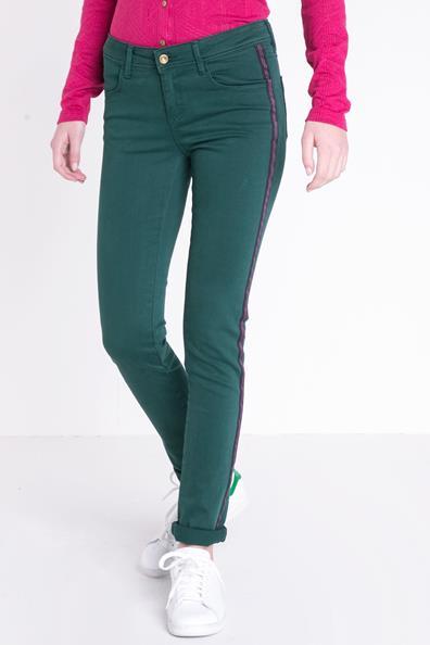 Jeans Slim Femme Bonobo Bandes Vert 34 ElasthanneTaille Colorées zLqGUpSMV