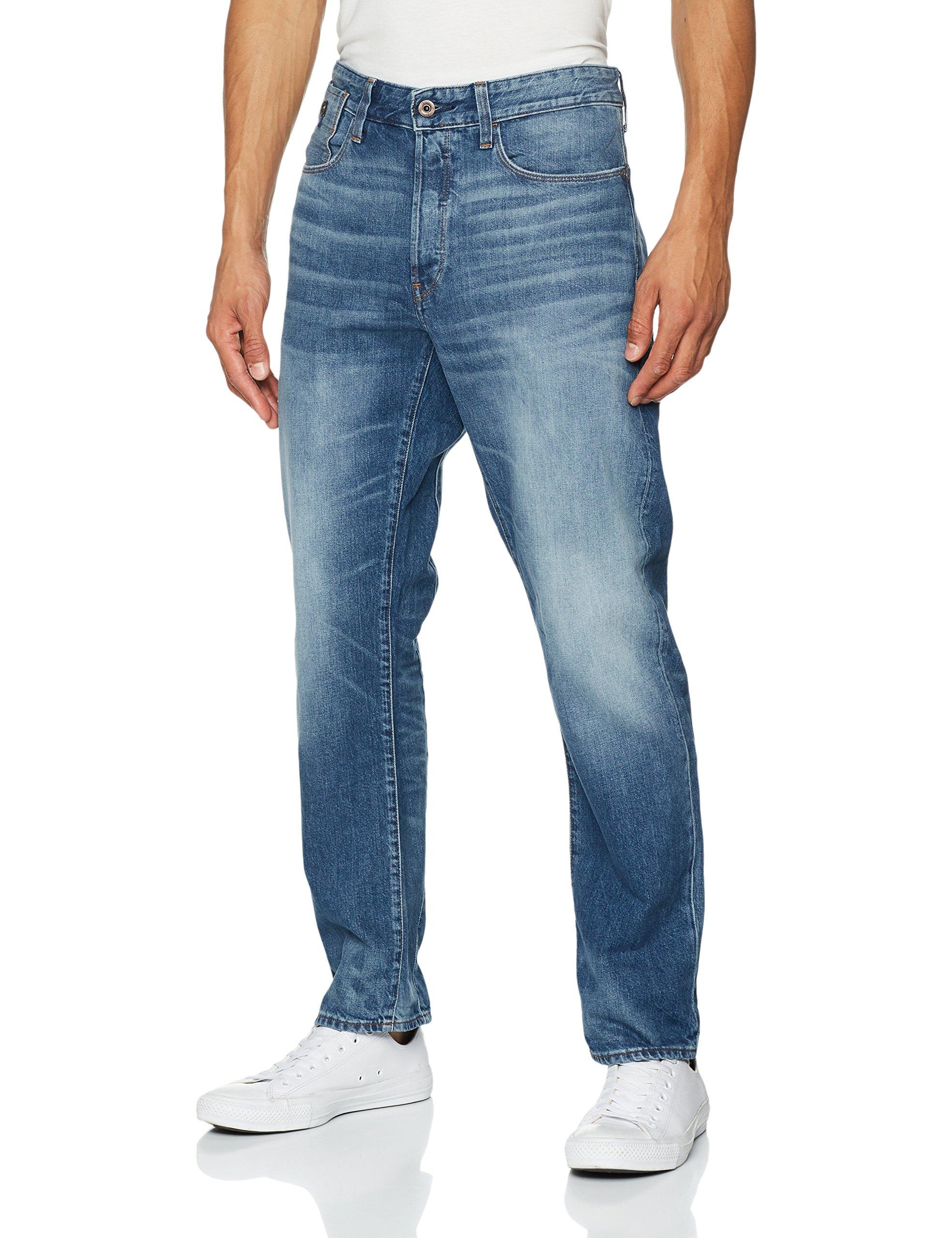 G 07129w32l Type Homme C Straight Aged 9299 3d JeansBleumedium Raw star MpzUSV