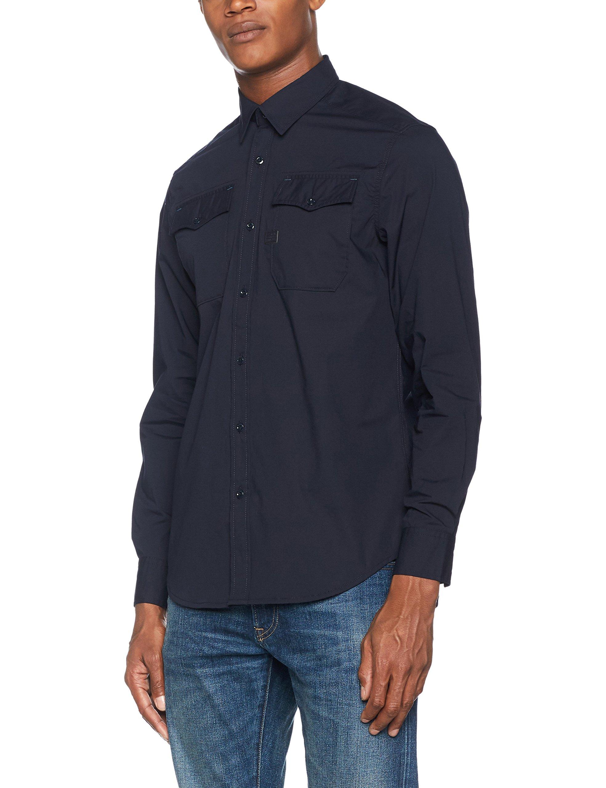 Raw CasualBleulegion G star Homme Shirt Landoh Blue 862Large Chemise s L DEIW9Ye2H
