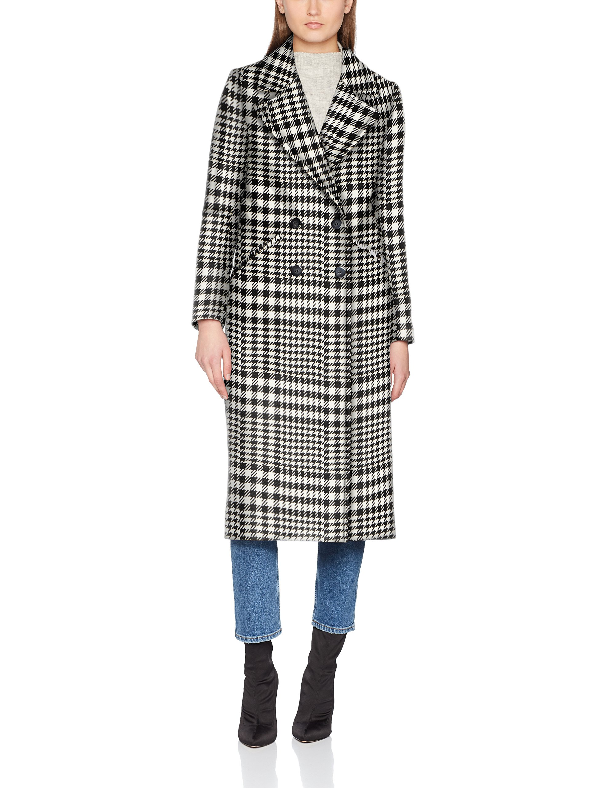 United Coat Fabricant44Femme Colors ManteauNoirblack Of 90140taille White Benetton rhCtdsQ