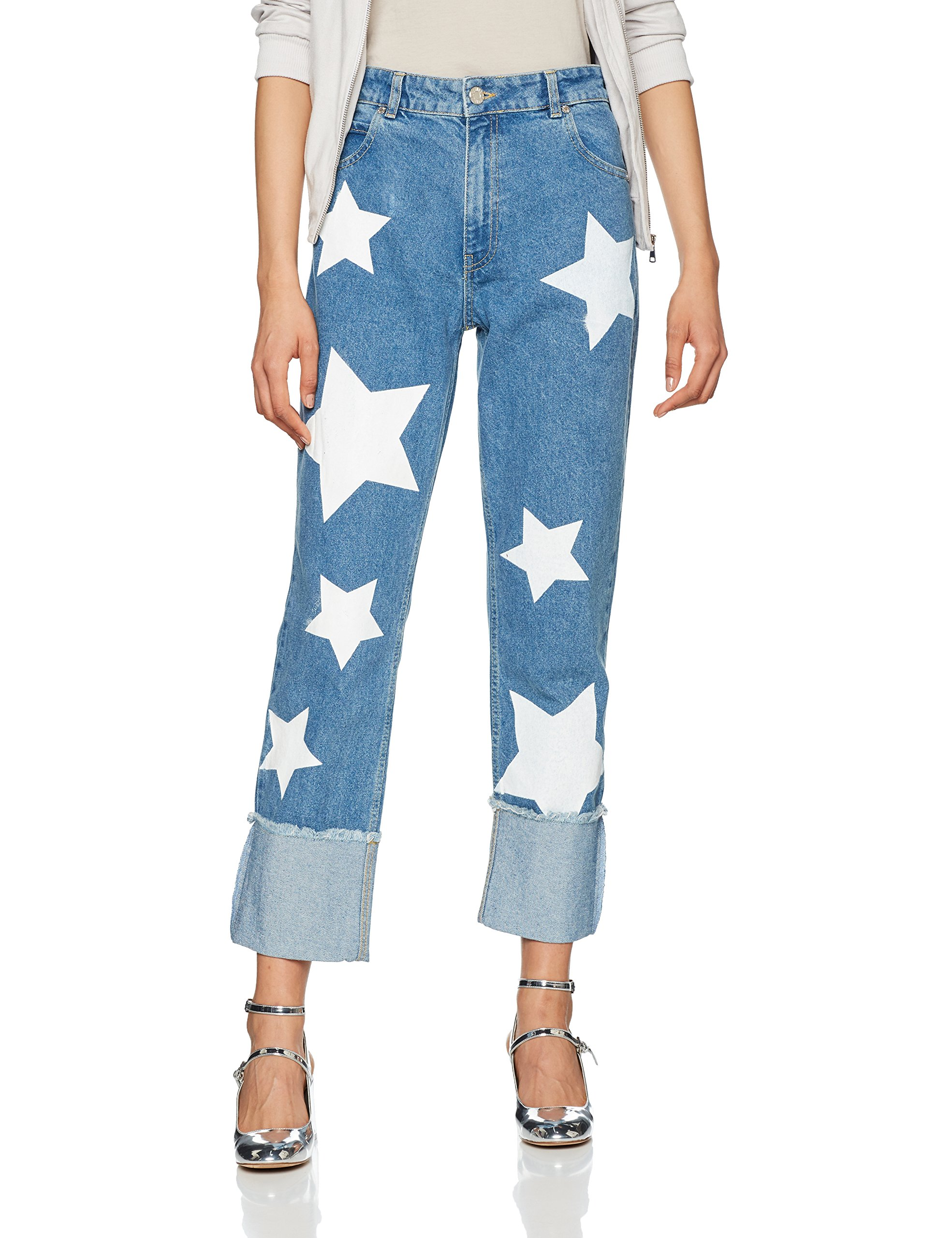 Up Star Deep Turn Of SlimBleu Printed House Blue38 Holland Femme Jeans mN80vnw