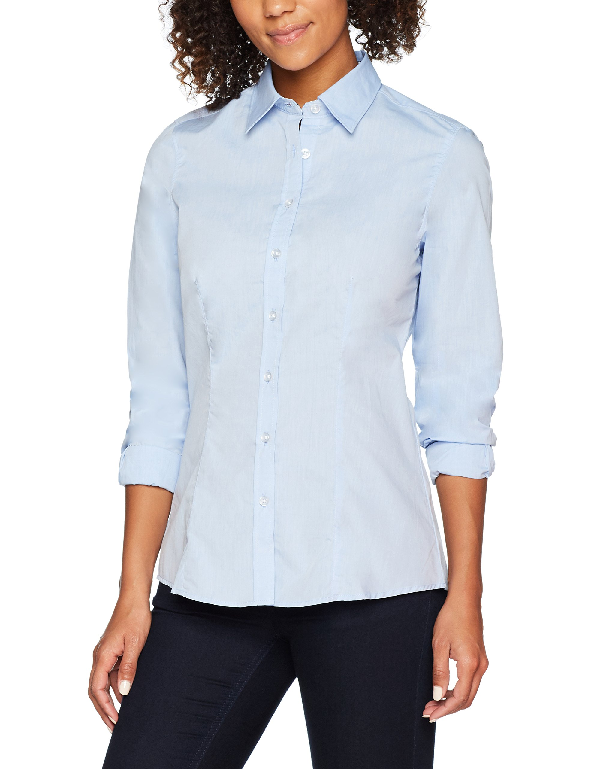 white40taille Plain Jamesamp; FabricantLargeFemme Ladies' Light Nicholson Shirt navy Du blue BlouseBleu HWE92ID