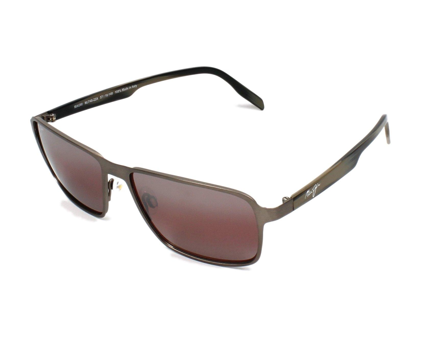 R Beach Jim Glass Maui HommesArgent soleil Lunettes de 748 22a Yb76fgy