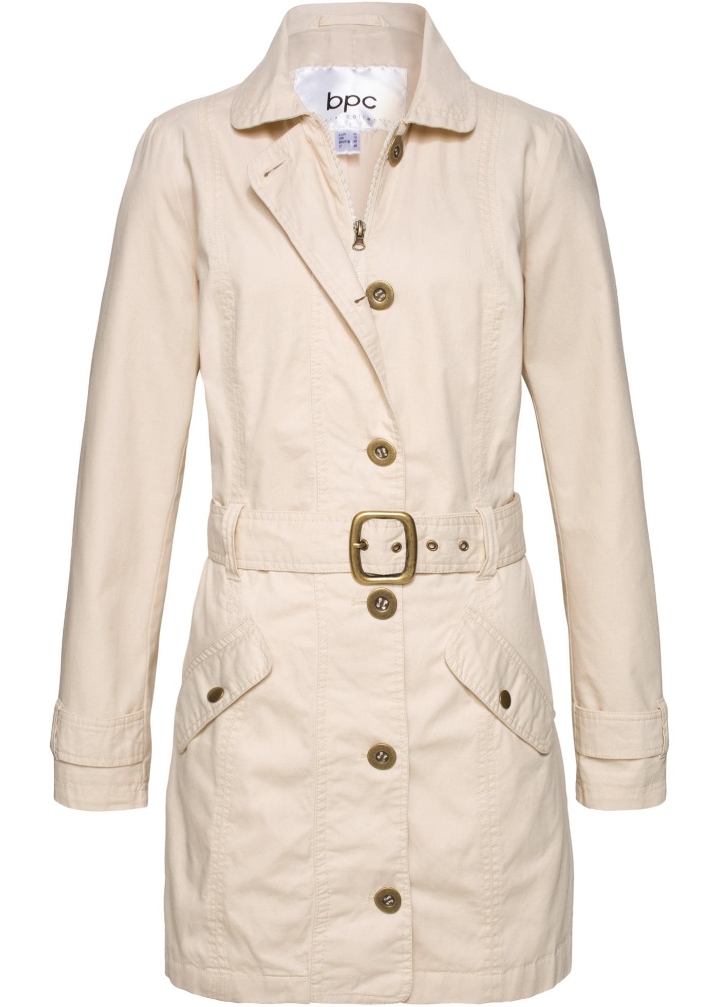 coat CollectionTrench Manches Bonprix Longues Bpc Gris Pour Femme nON0wPk8X