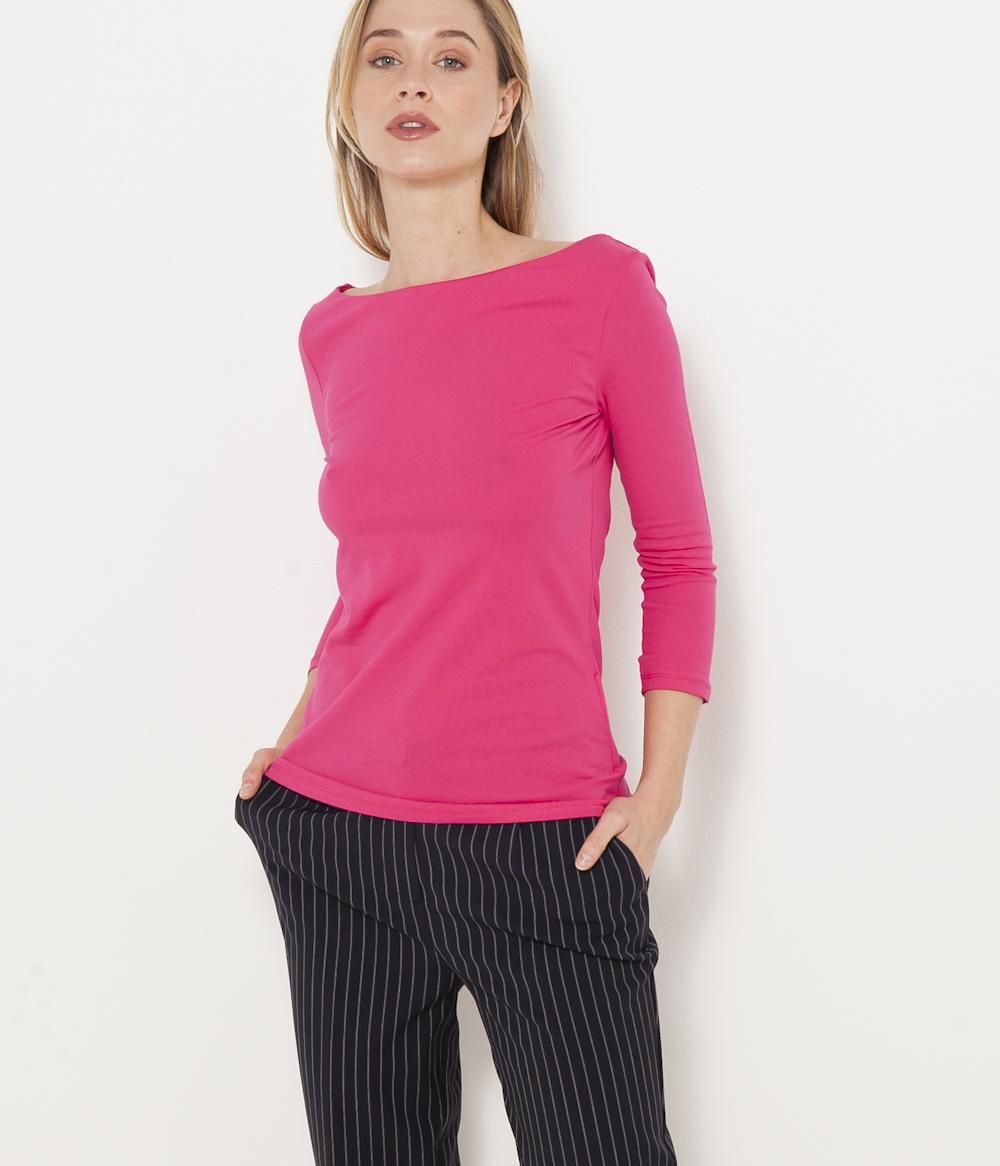 Camaïeu Coton Bateau Femme T Col shirt CdxBroWe