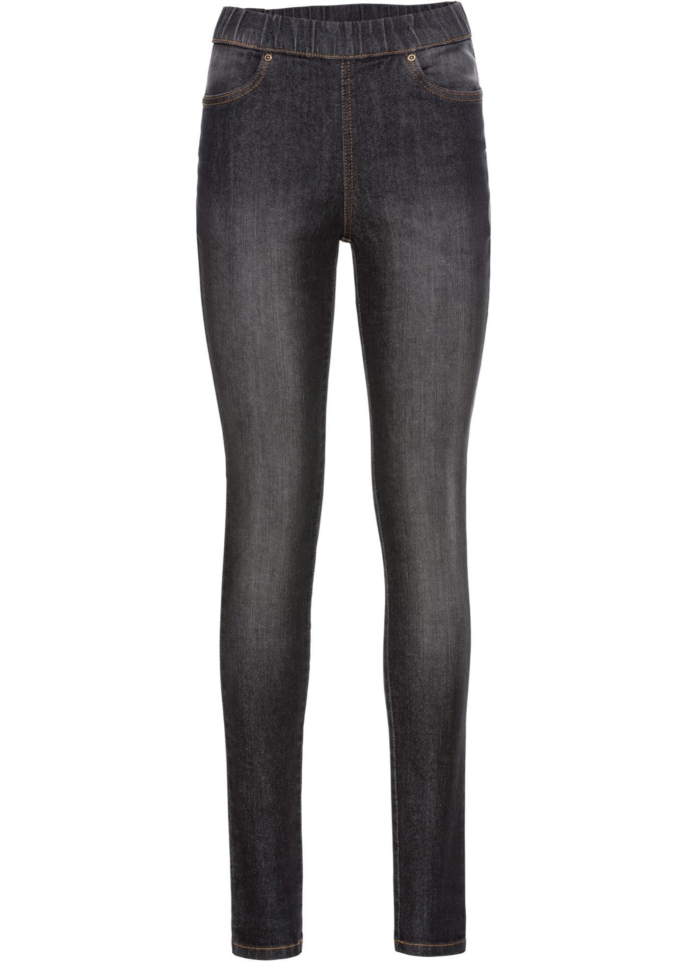 Femme Noir Confort John BonprixJegging stretch Jeanswear Baner Pour QxeWodBCEr