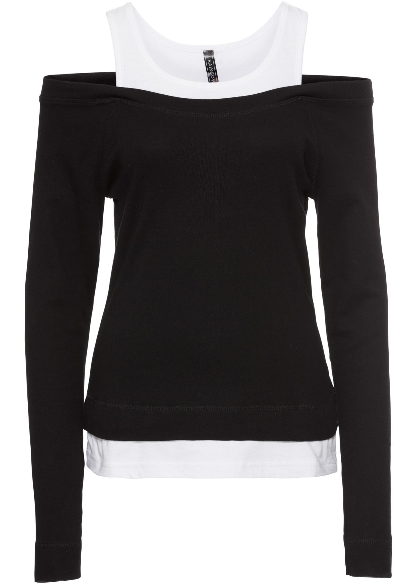 Noir 2 Pour Style Femme Rainbow shirt 1 Manches Longues En BonprixT Tc3JlKF1