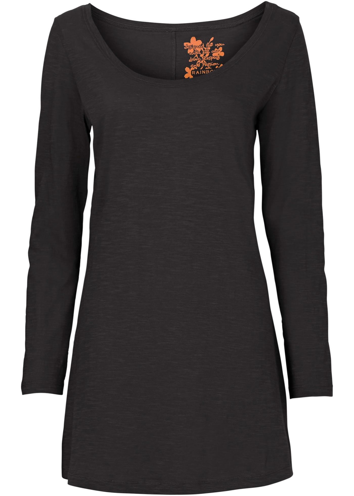 BonprixT Noir Rainbow Manches Long Femme Longues shirt Pour kXuPiwZTO