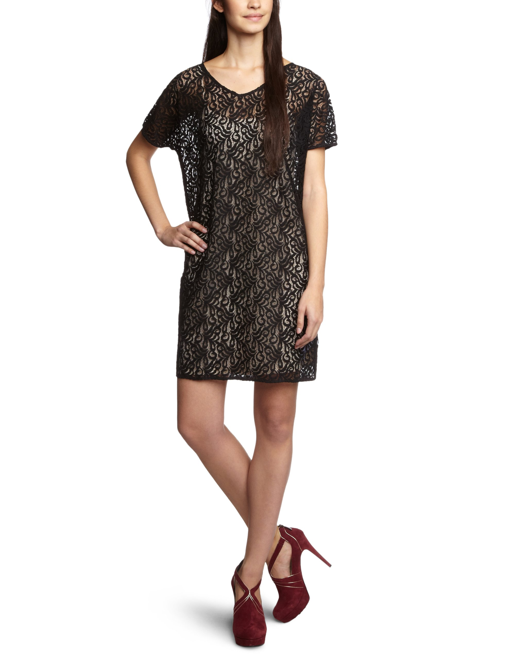 Noirblack Fabricant 050Fr38taille Manches Part Femme S TwoRobe 2 1 WD9EHI2Y