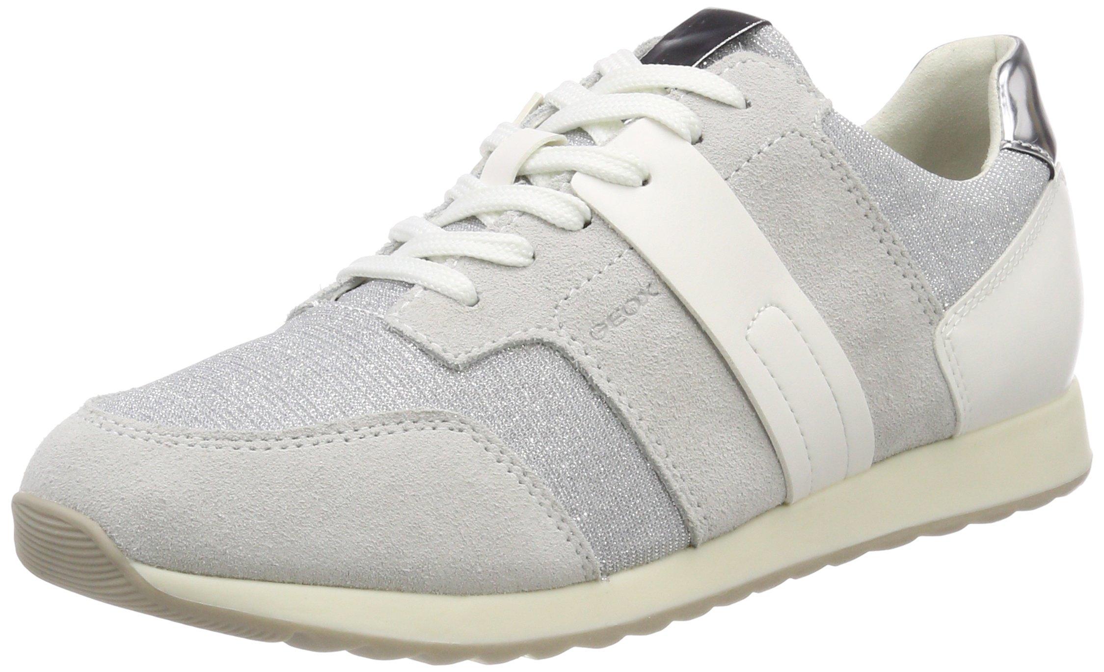 FemmeGrisoff Deynna White DSneakers Geox Basses Eu D silver40 5qc34AjLR
