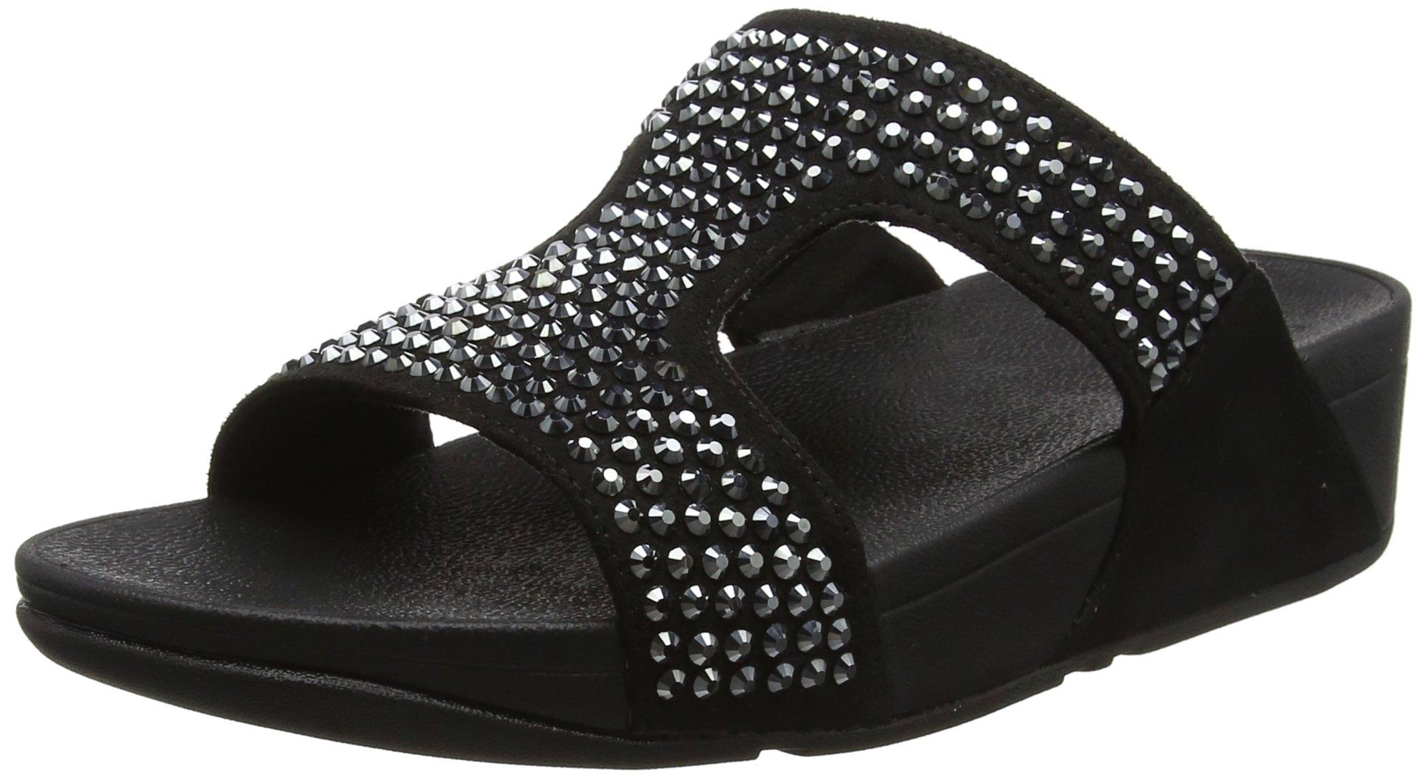 Fitflop Eu SandalsBout FemmeNoirblack 139 Glitzie Slide Ouvert tshoQrCdxB