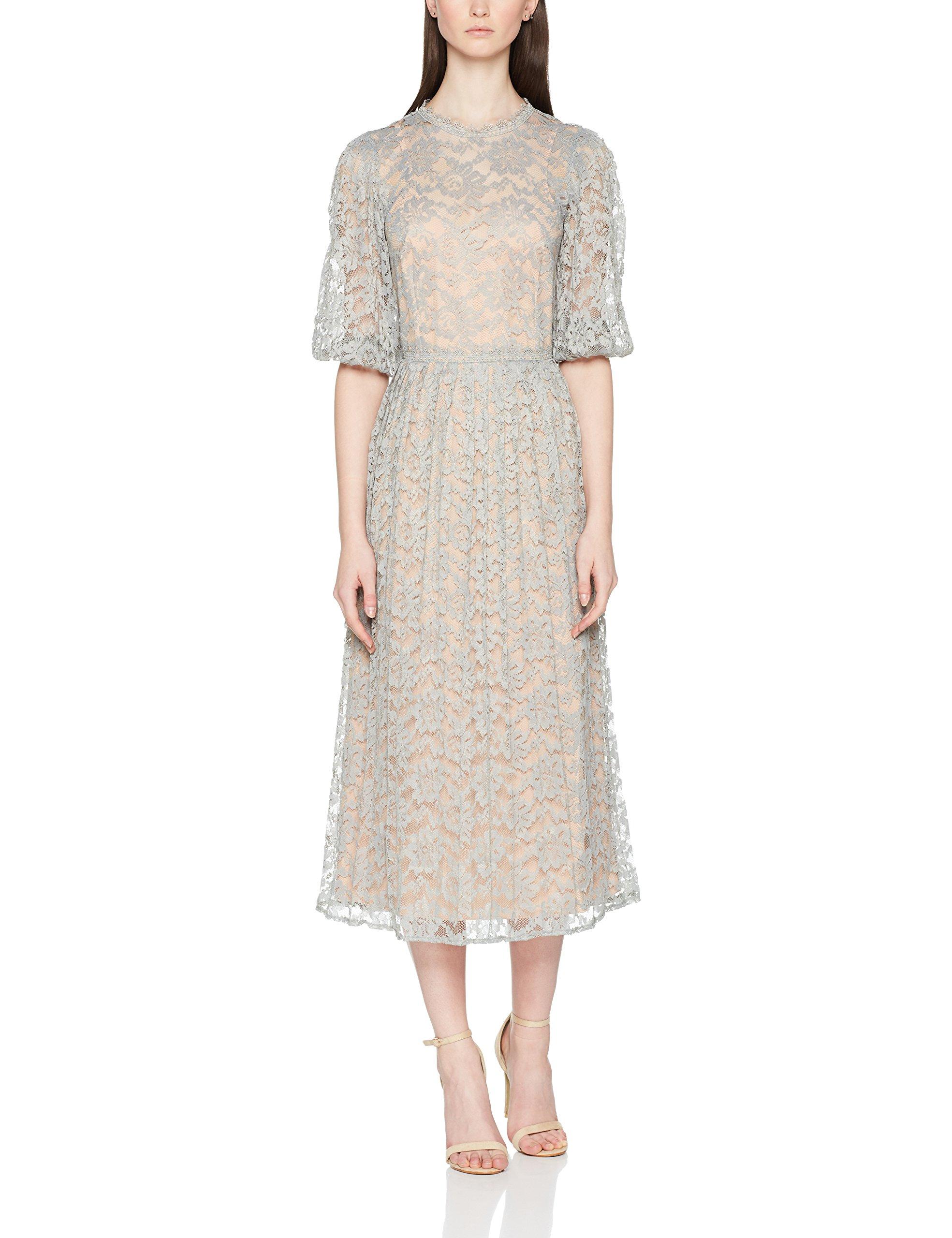 Little 00140 Contrast Femme Lace Dress RobeVert Pleats Mistress Waterlily With vmOynN80w