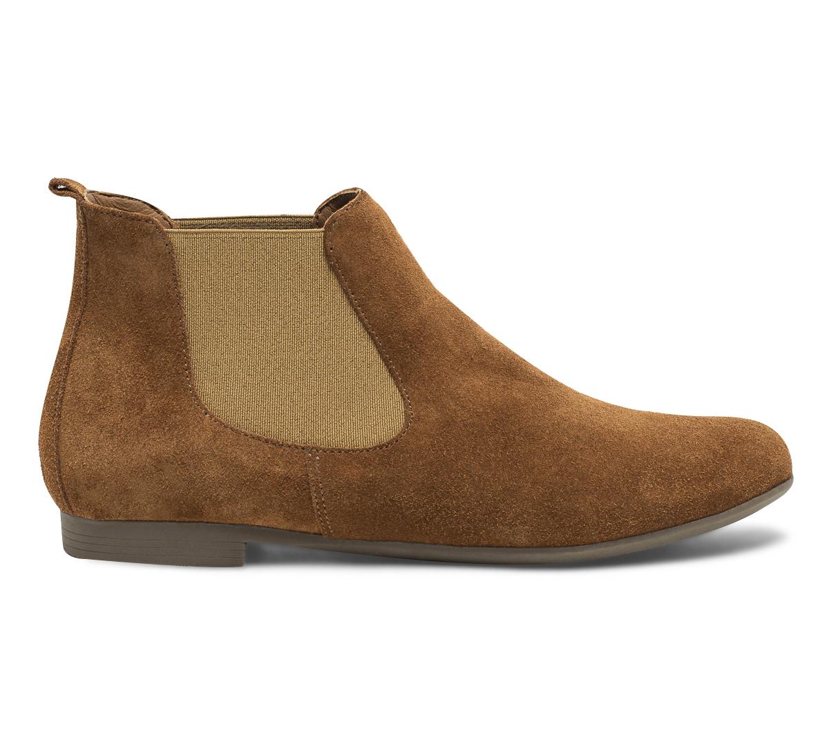 Eram Cuir Velours Chelsea Camel Boots En Tl1cJFK3