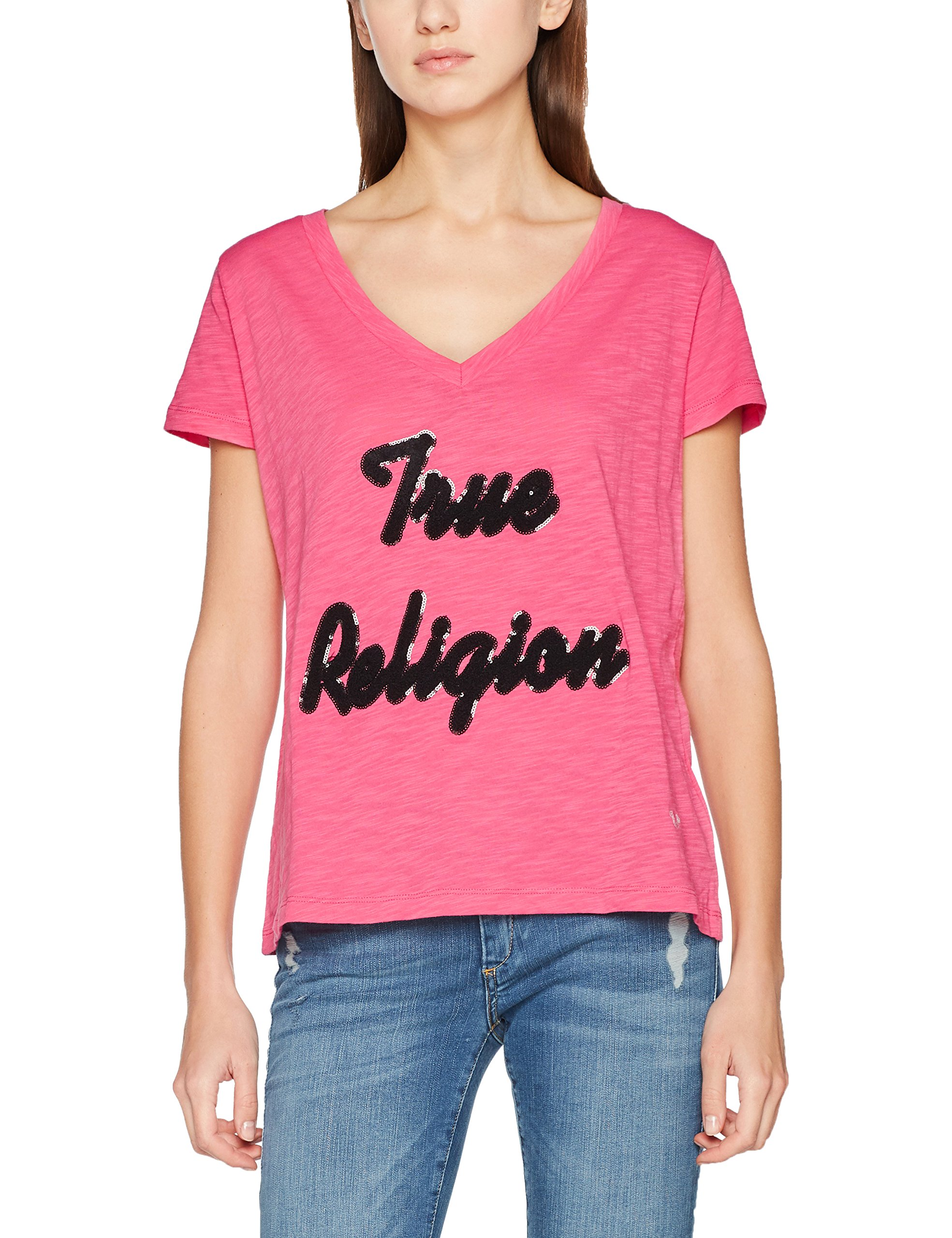 685840taille l shirt 1 PinkT Femme True Religion Rosepink Fabricant ONP0wkn8X