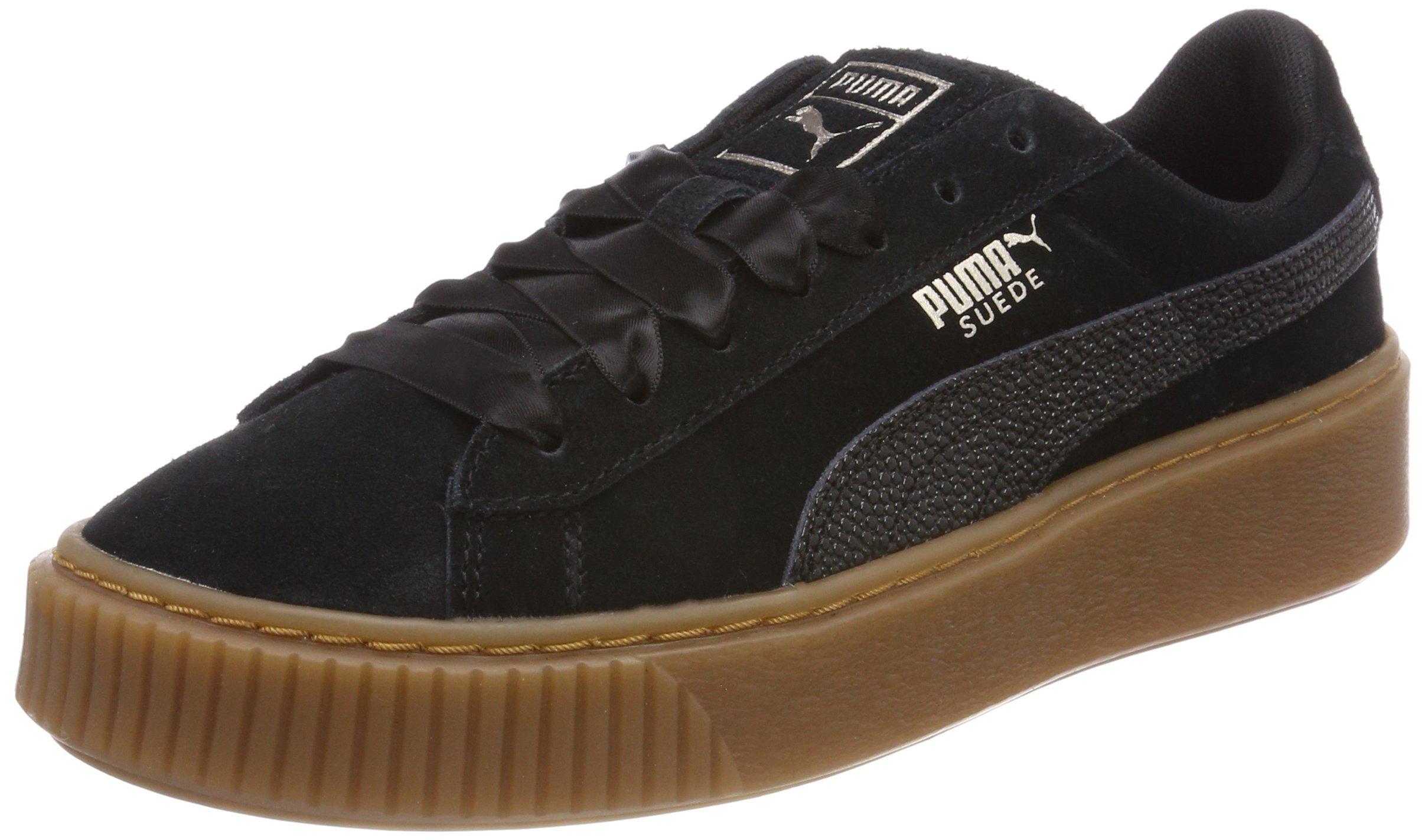 5 Bubble Wn'sSneakers Platform Eu Suede Basses Puma FemmeNoir Black42 qUMVzpGS
