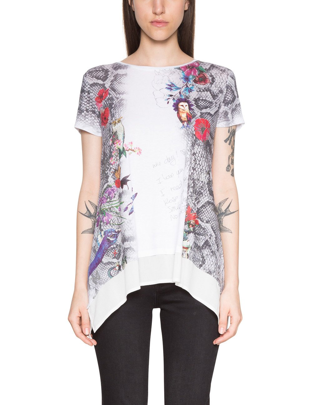 daphne T Desigual shirtBlanccoton Ts Femme 1015Medium WE2HID9