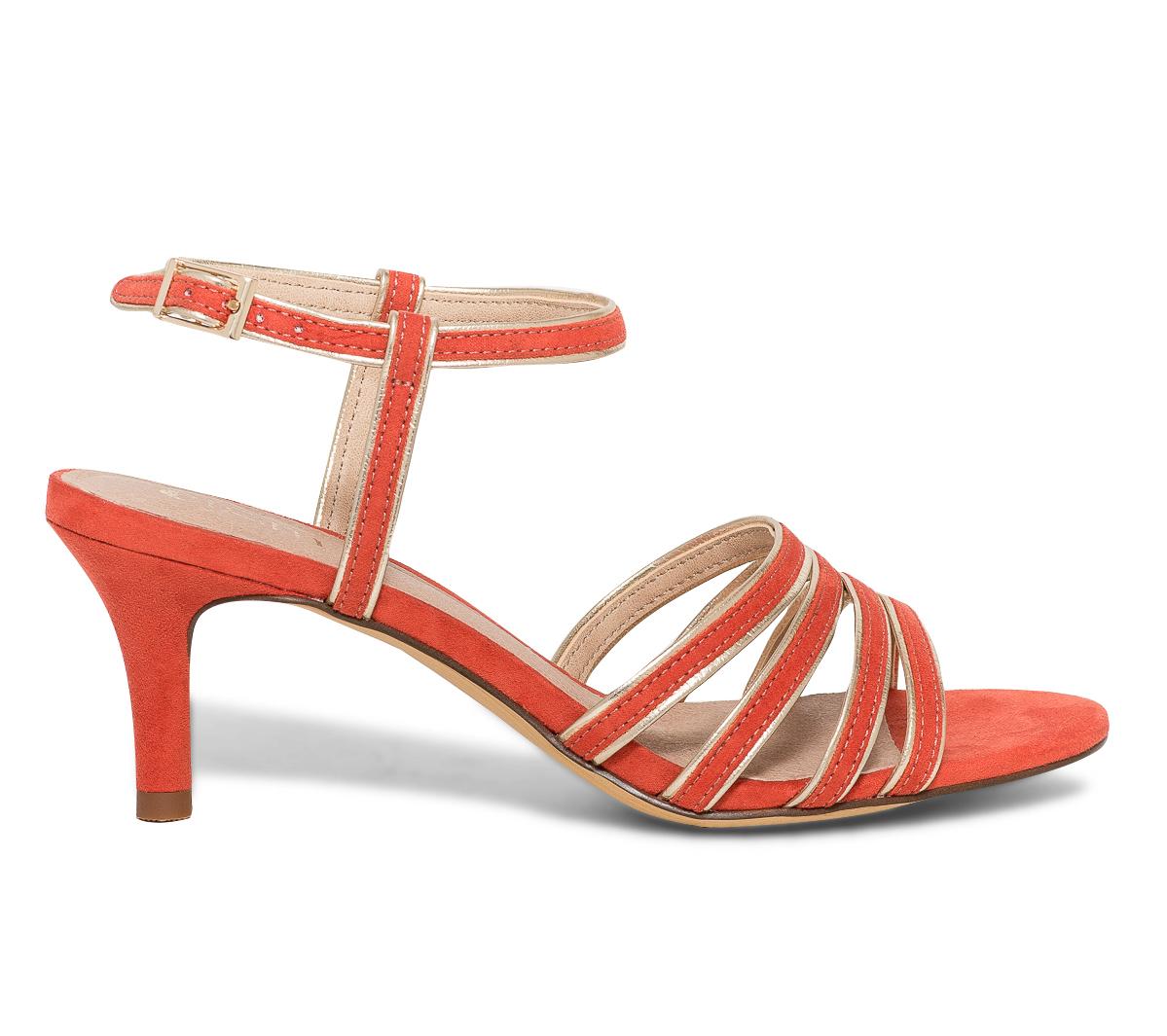 Sandale Et Eram Multibrides Or Rouge 5j3q4ALR