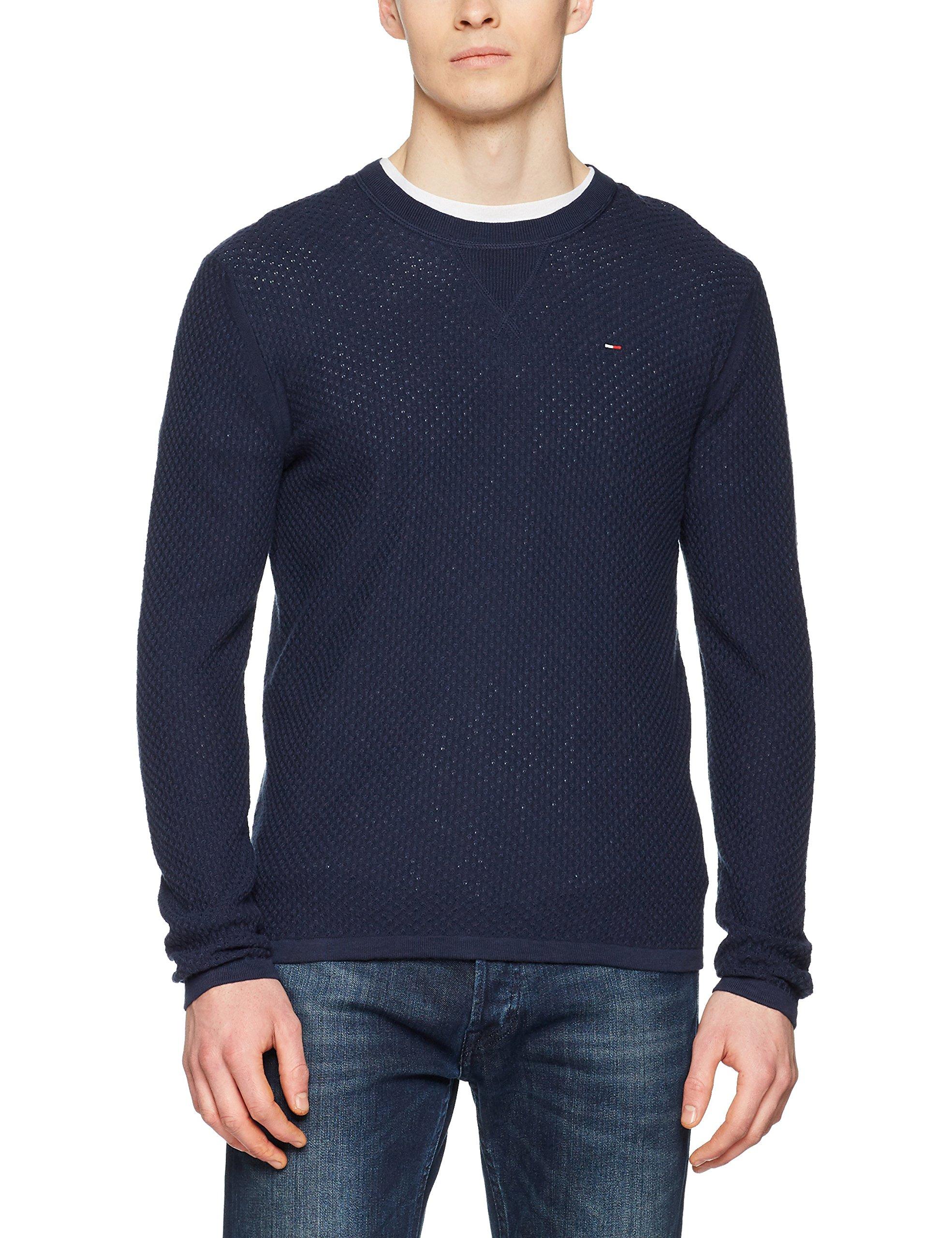 Jeans Courtes Essential Pull Tommy Iris Homme Bleublack 002Large Manches Sweater qSzpUVGM