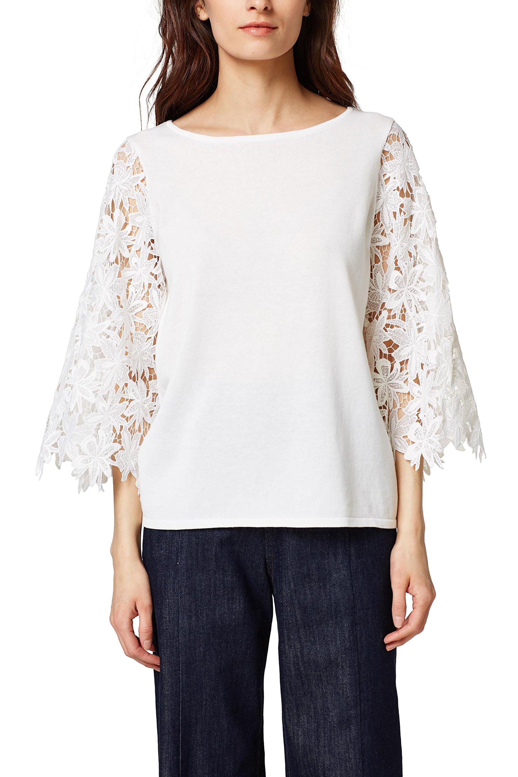 Collection Femme PullBlancoff 110Medium Esprit White 038eo1i002 OP0knw