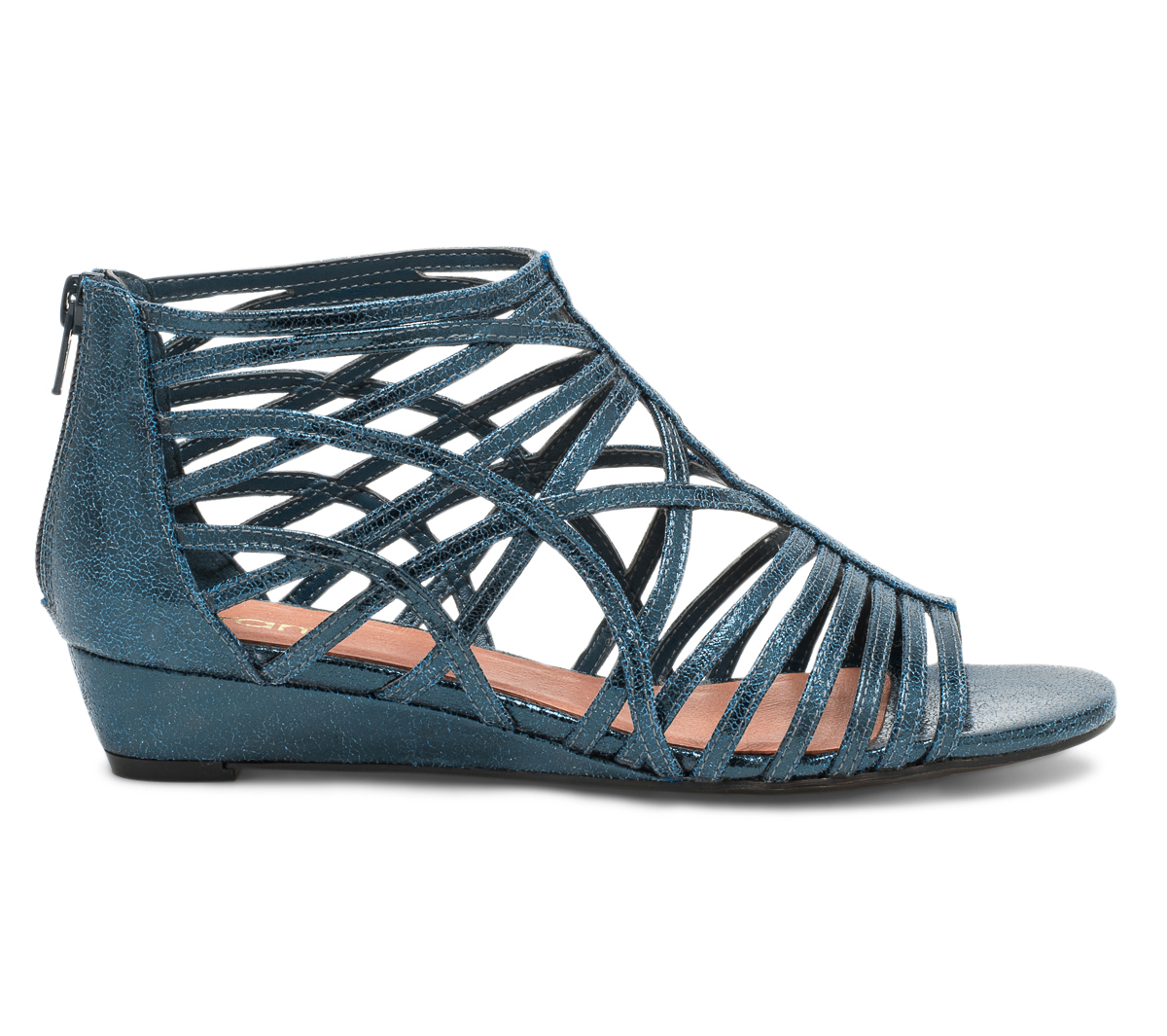 Métallisé Sandale Bleu Brides Canard Eram À j54ARL