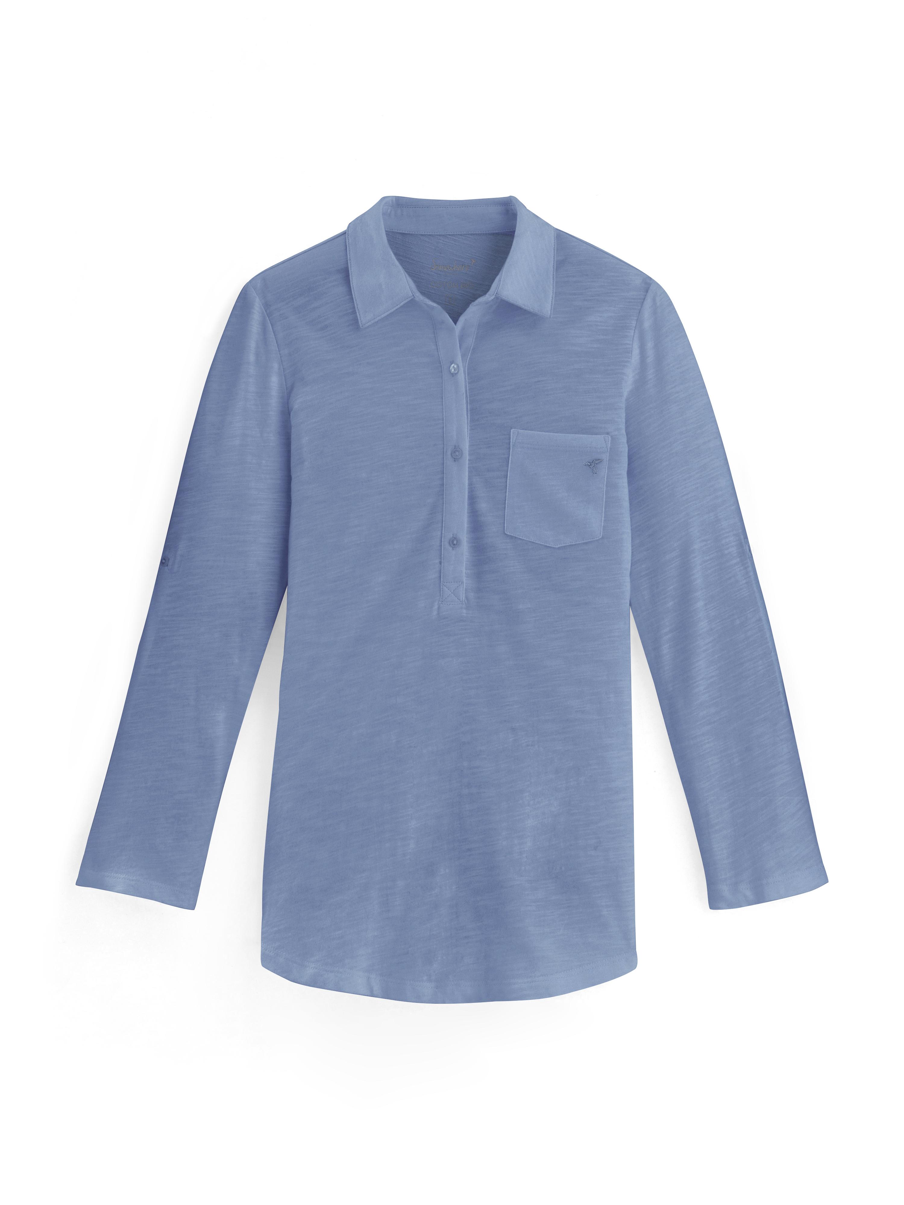 Bleu Polo SomewhereCouleur T Coton Bio shirt Femme Flammé Grise SVLUqjzMpG