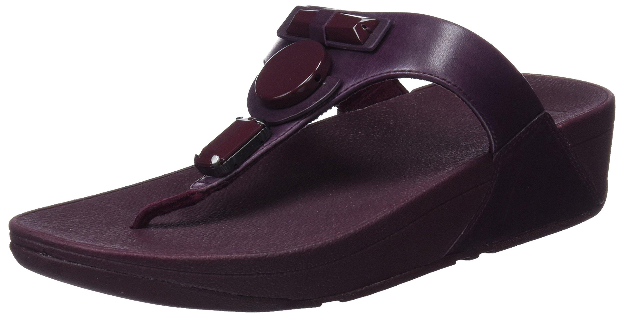Plateforme Sandals FemmeVioletdeep 39836 Fitflop thong Plum Eu Glamoritz Toe 8ONPm0vnyw