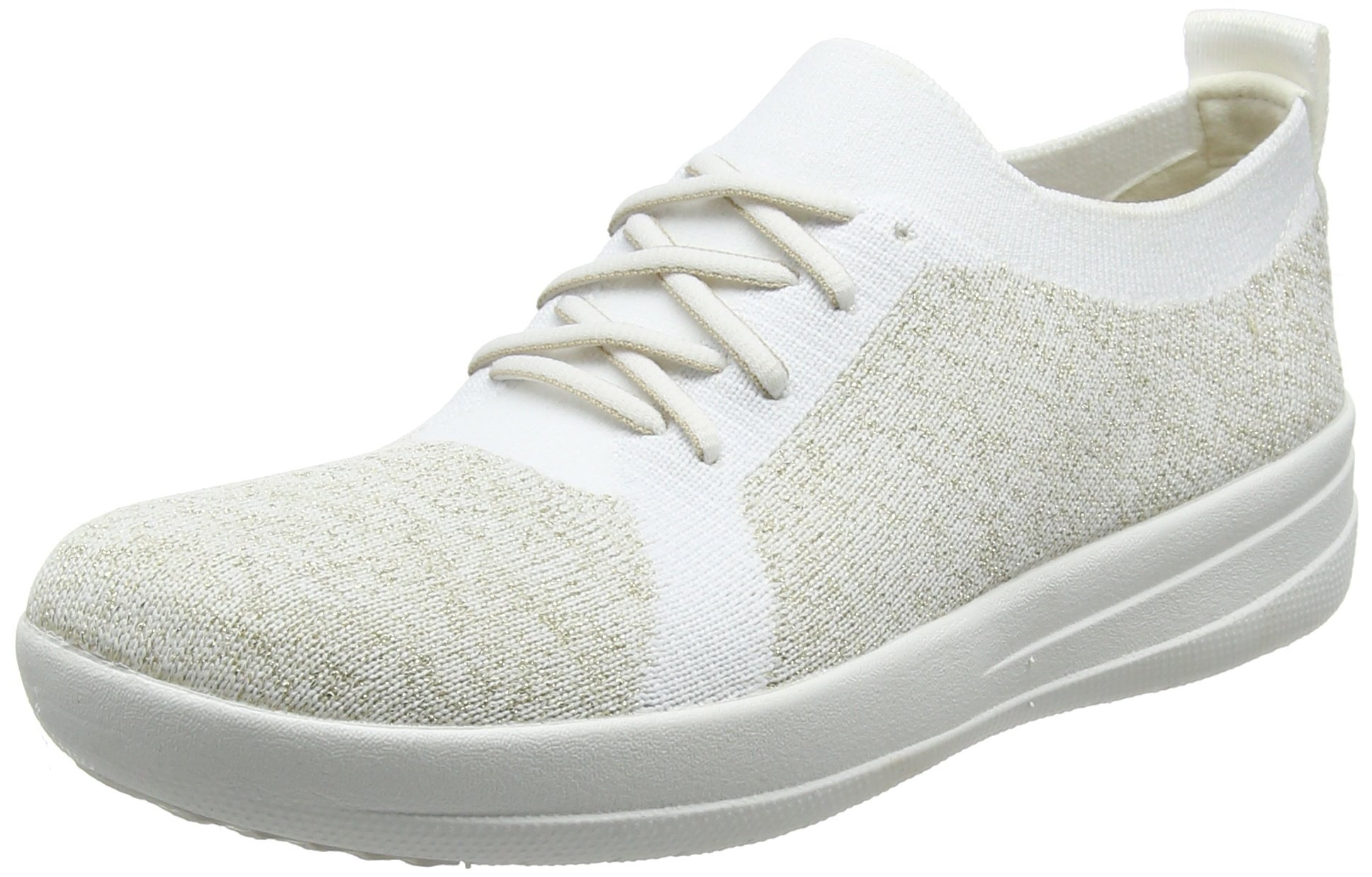 Gold F sporty Fitflop Multicolourmetallic Uberknit White urban Eu3 SneakersMetallicBasses 56636 Femme Uk XuPkZiOT