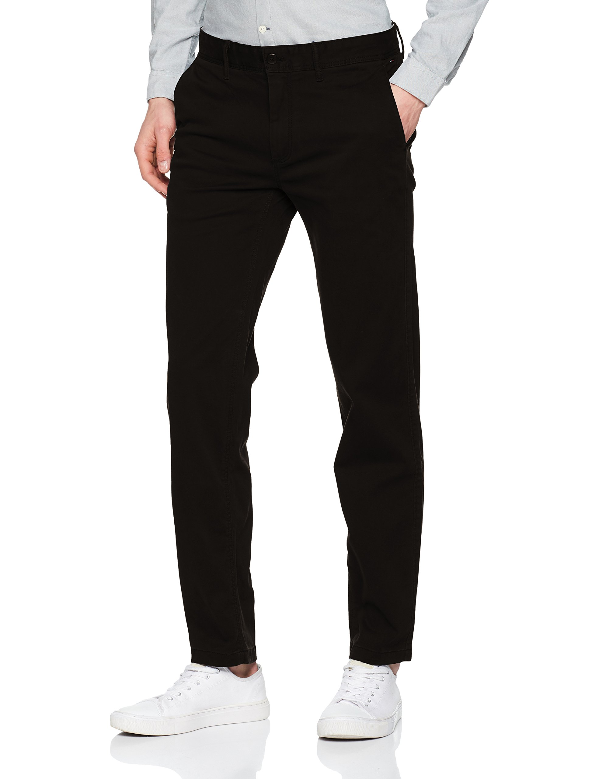 Chino Pantalon Skinny Noirtommy Straight Jeans Homme Black Tommy 078W30 Essential l32 K1JlFc