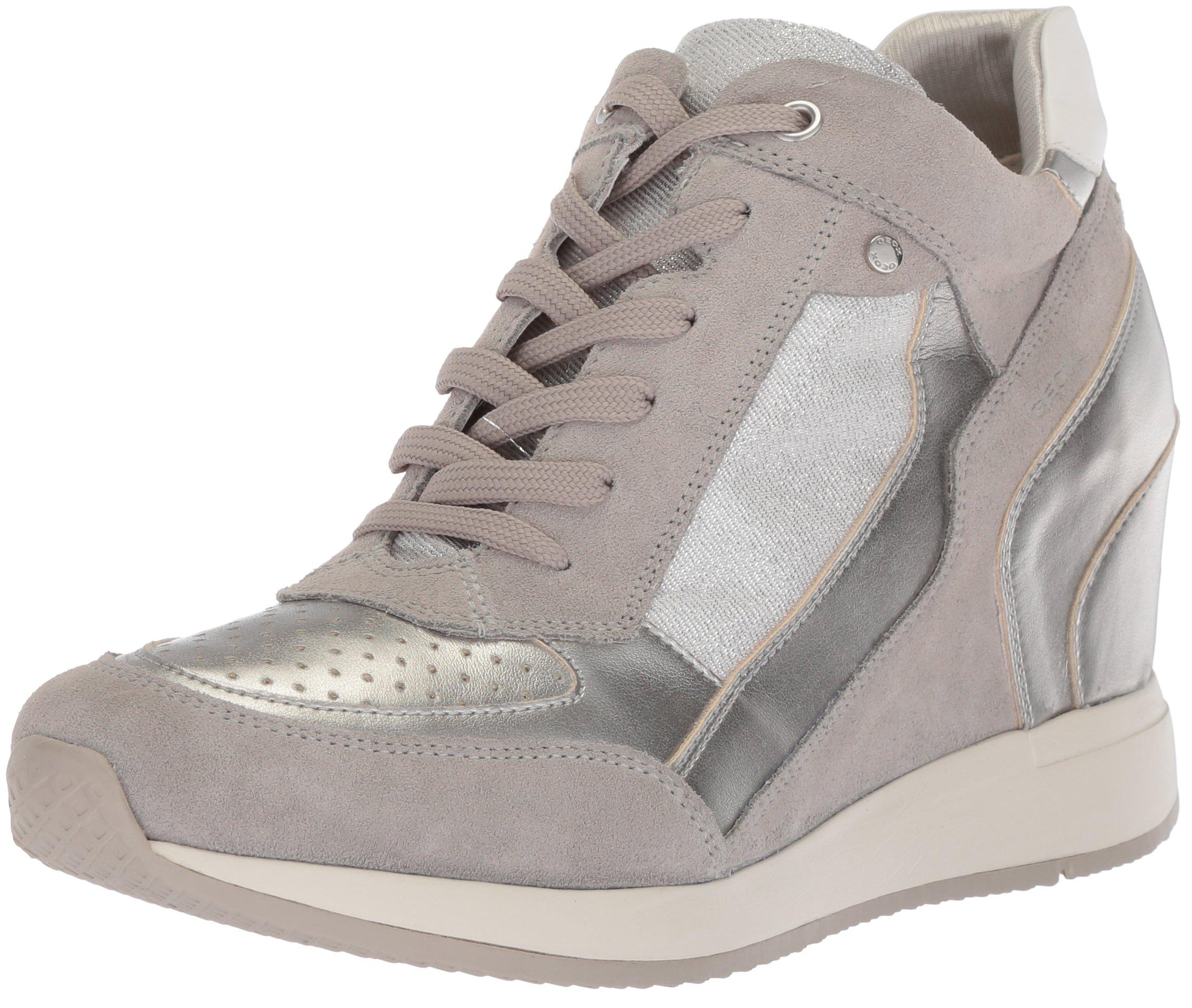 Grey Hautes silver35 ABaskets Geox FemmeArgentlt Eu D Nydame OnX80wZNPk