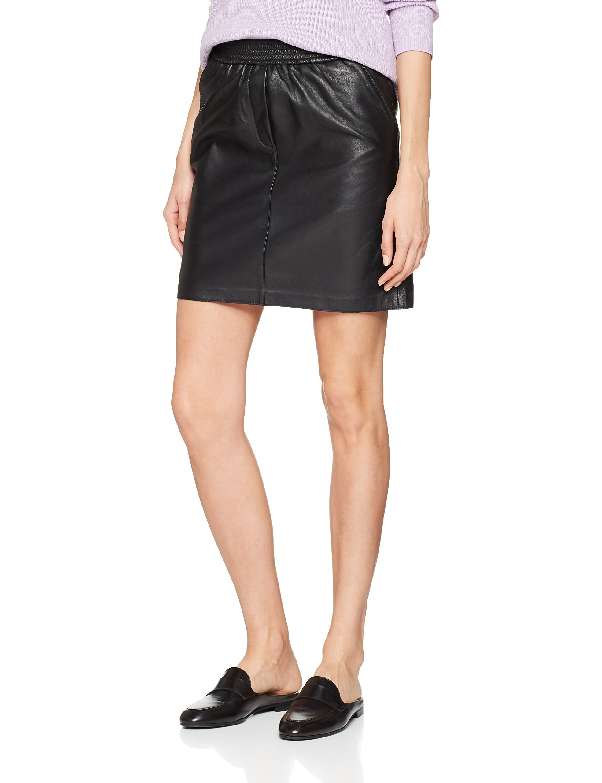 Female FabricantMediumFemme Leather 800140taille JupeNoirblack Adina Skirt Second sQrdthC