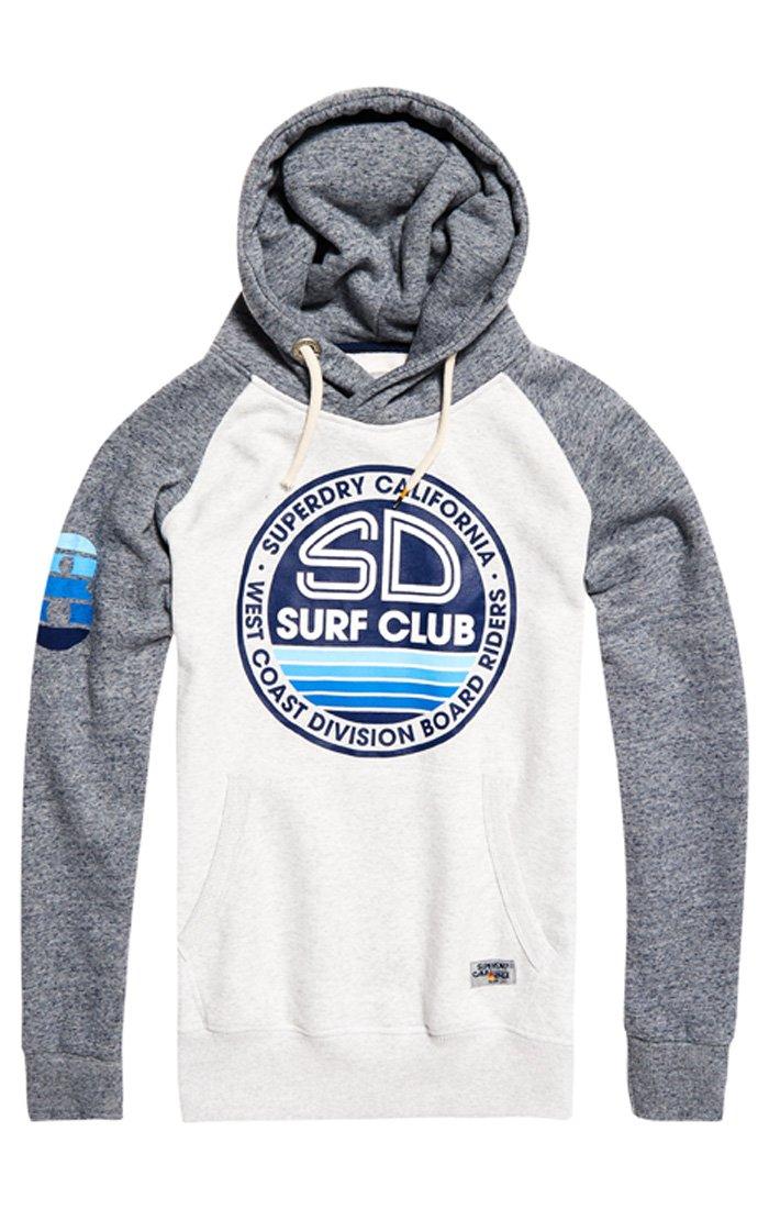 Superdry Sweat Silver Sd Surf À Homme Qn7Large Raglan Club CapucheGrisstadium HEY9WD2I