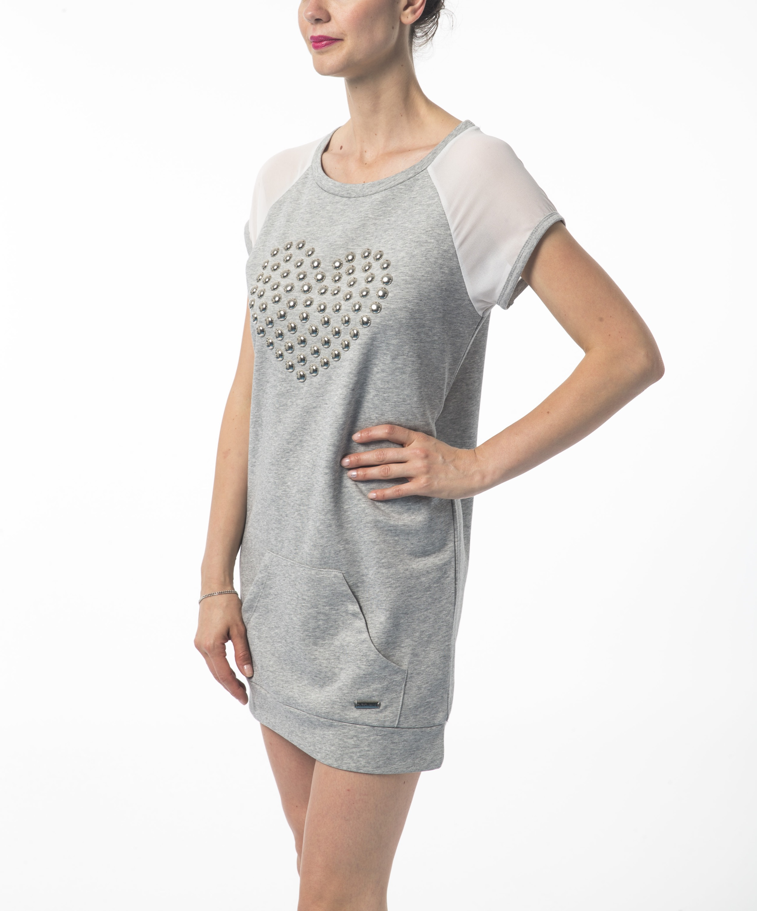 shirt Sweet Years Gris T 21147 Femme WD9HYIE2