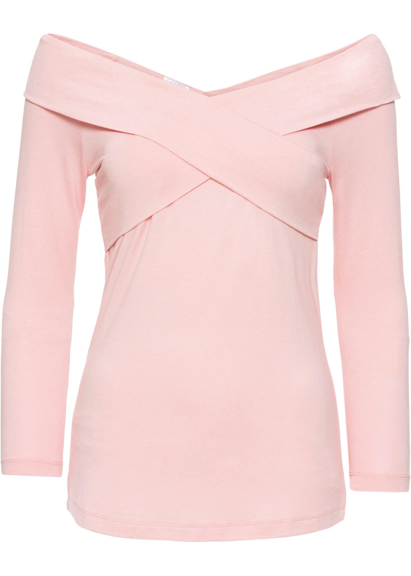 4 3 Pour Cache shirt Rose BonprixT Femme Style Bodyflirt cœur Jersey Manches tQrCsdxh