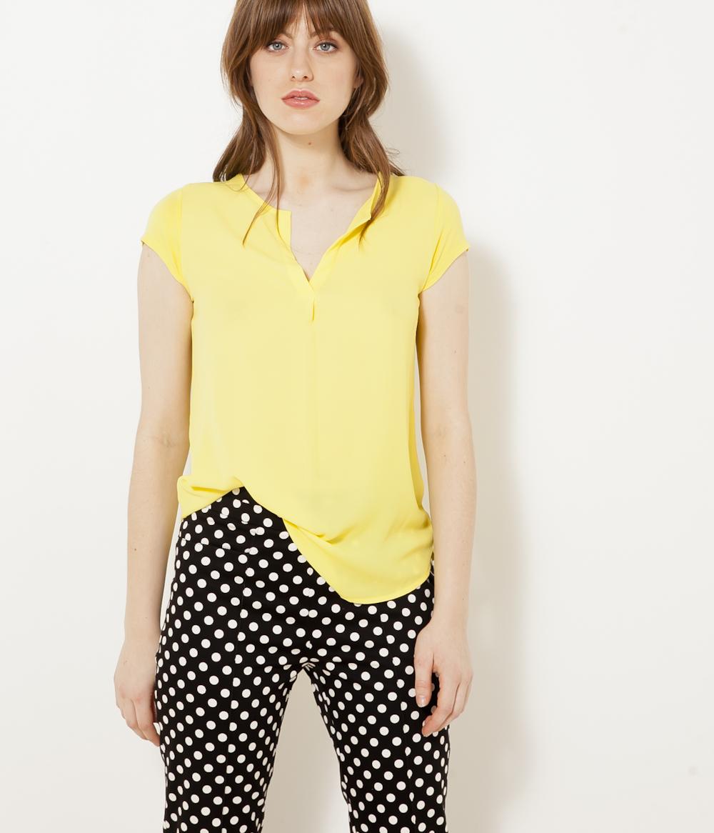 Camaïeu Bi shirt matières T Femme 7gbf6Yy