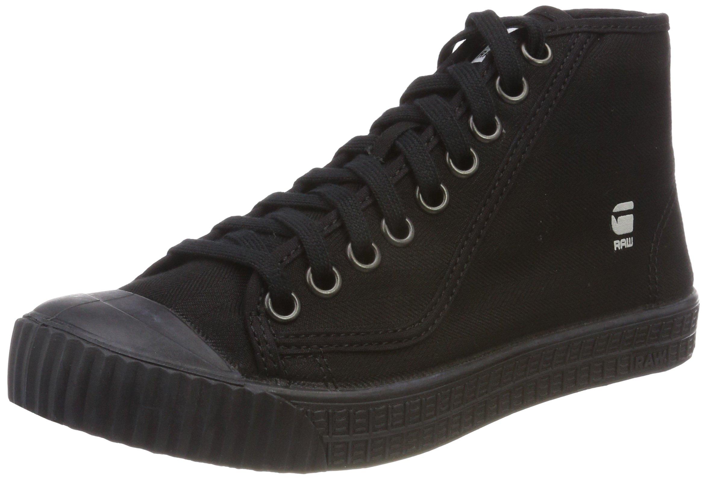 G Raw Denim Mid FemmeNoirblack SneakersBasses Eu star Rovulc 99037 35ARjL4q