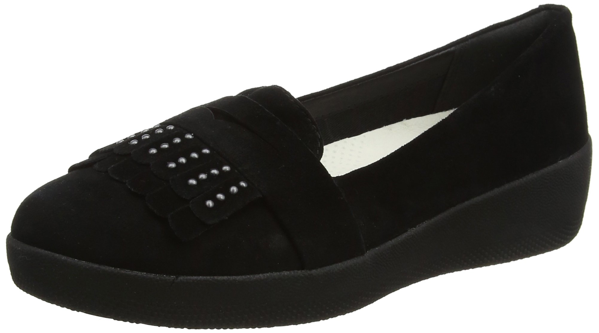 Fringey Fitflop Eu FemmeNoirblack SneakerloaferMocassins 00137 Studded 5 PZiukX