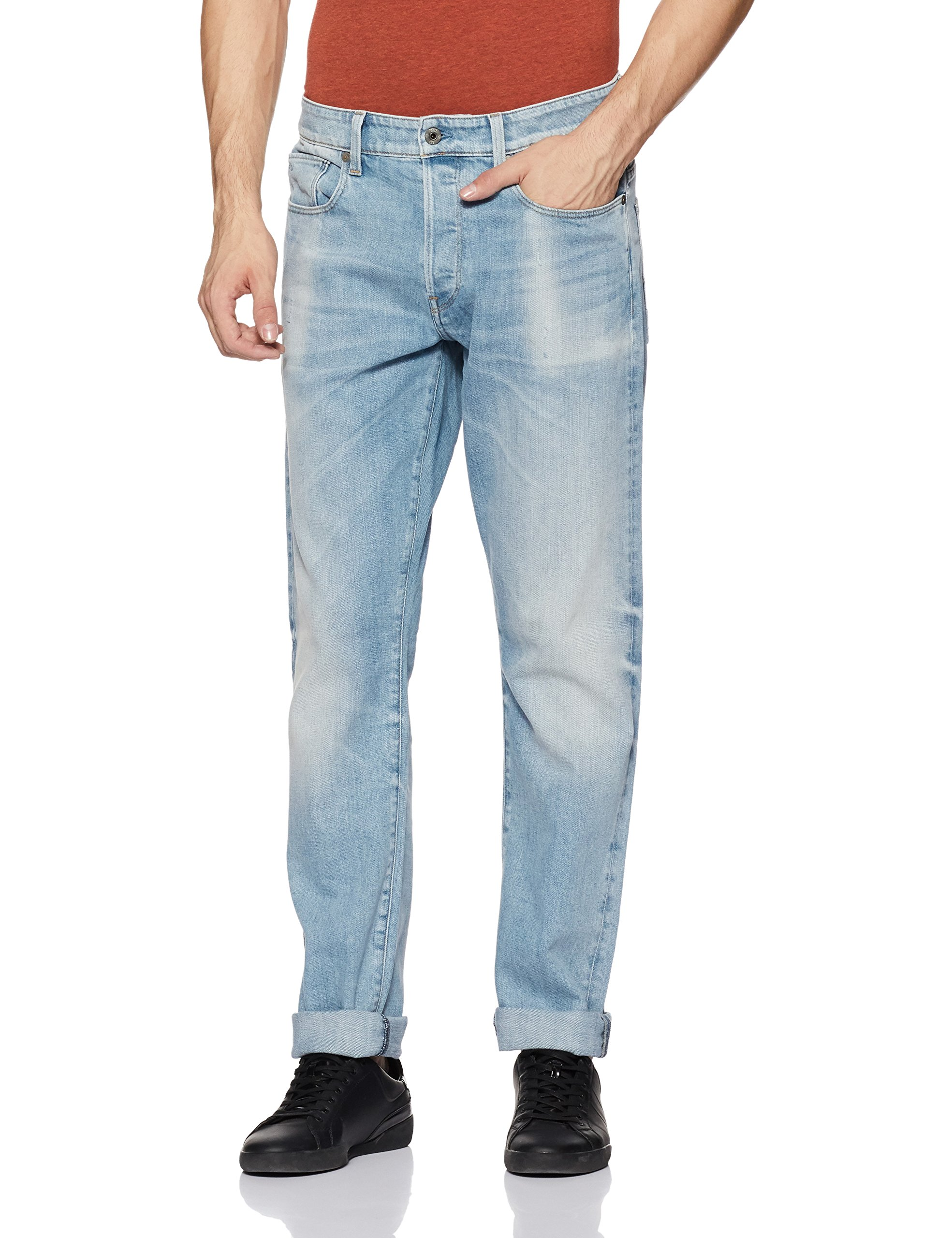 Raw 42429w32l star tapered Aged JeansBleult Homme 3301 G 6997 Nwnm80Ov