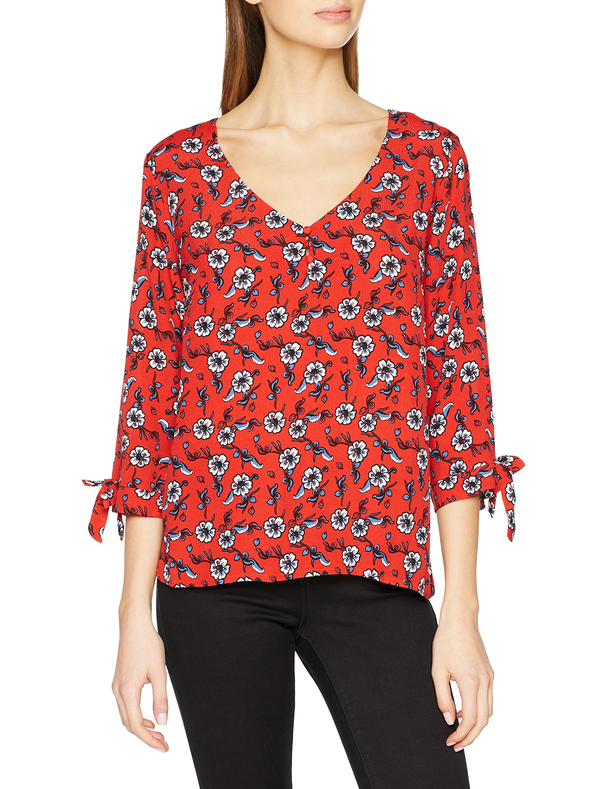 Ddp LonguesRouge34taille Manches F4jenym16 TT shirt FabricantXsFemme SVpqLUGzM